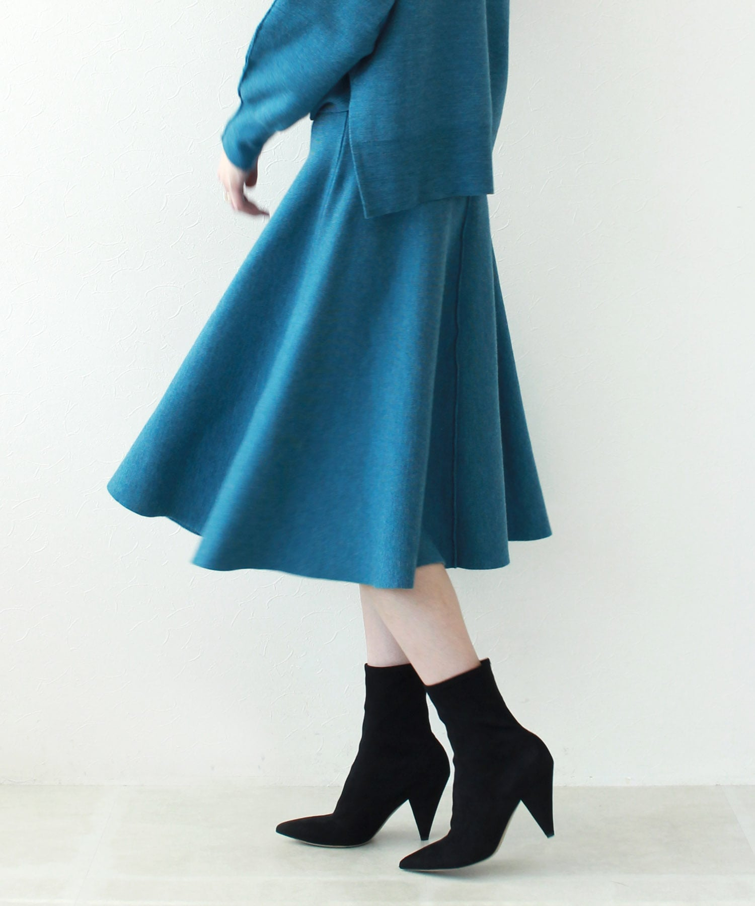 wool smooth flare skirt