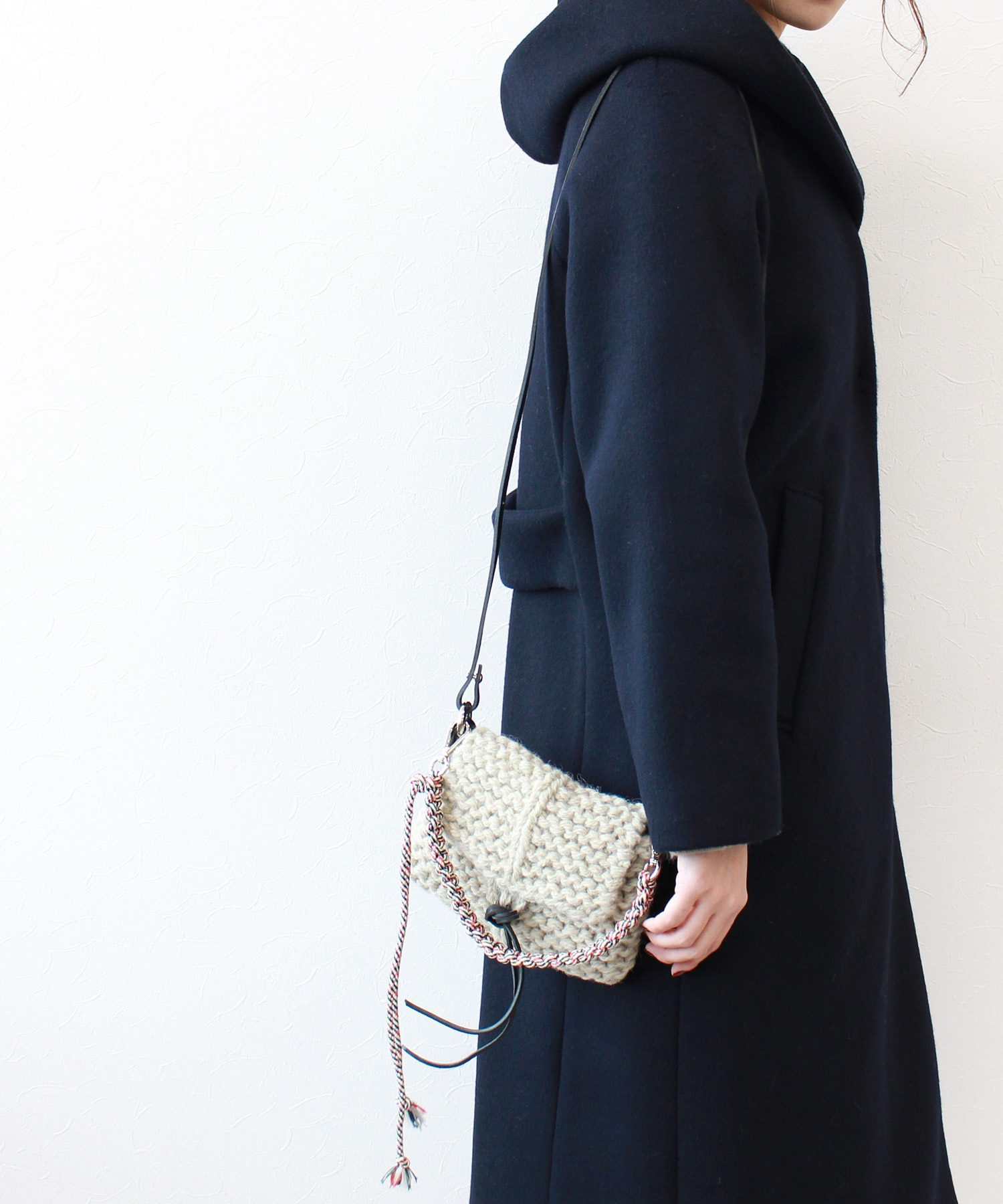 【MUUN / ムーニュ】 INUIT GARTER KNIT BAG★