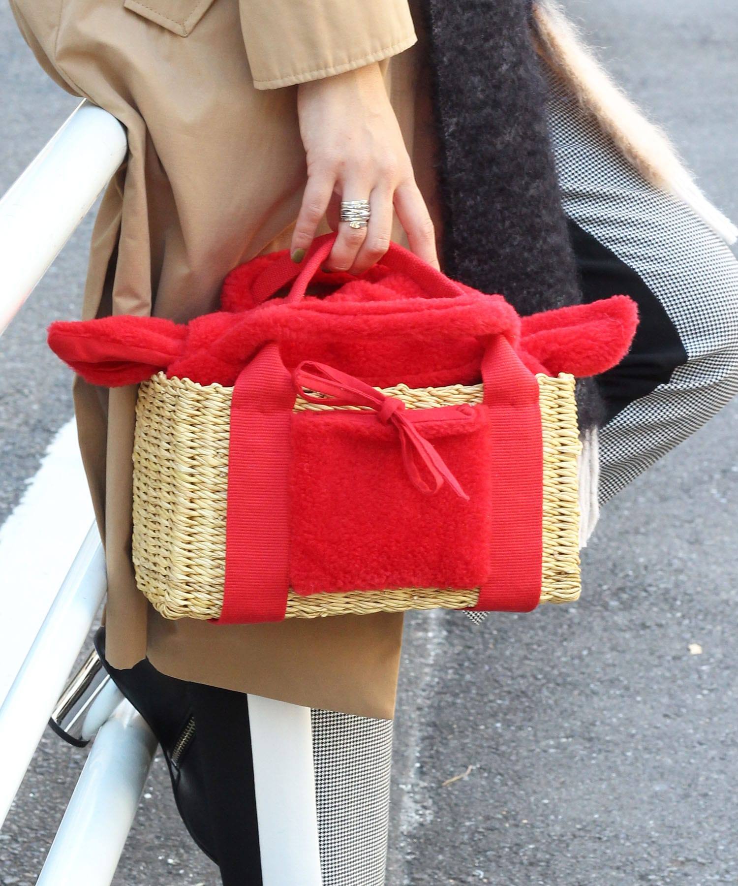 【MUUN / ムーニュ】 manon skipi sheep kago bag■