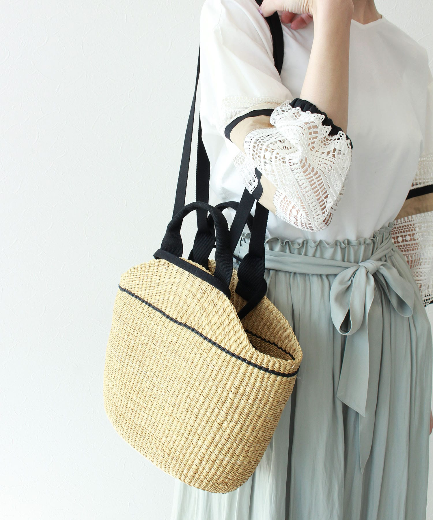 【MUUN / ムーニュ】NATH COTTON KAGO BAG