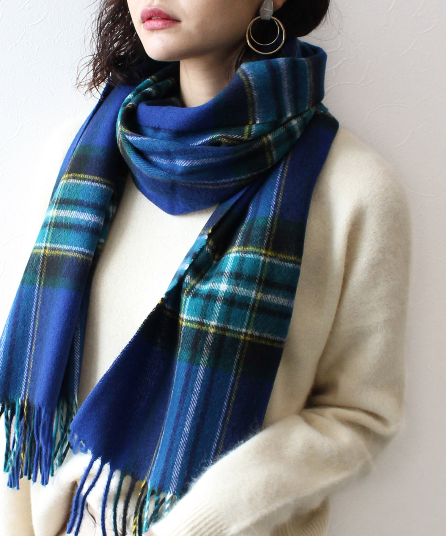 BRONTE by moon 50×190 country stoles Merino lambswool(英国製)