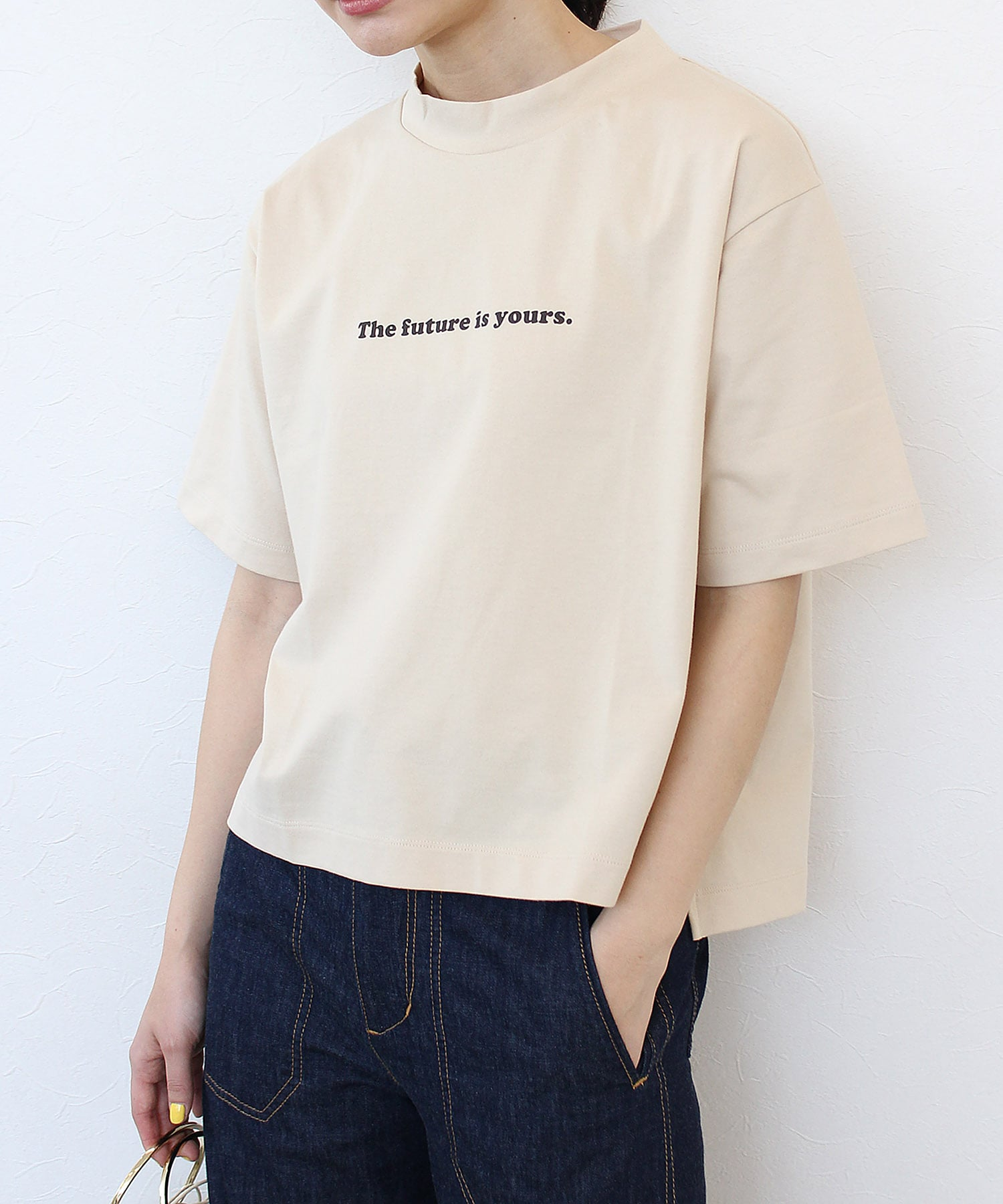 <with 7月号掲載>The futureロゴプリントTシャツ