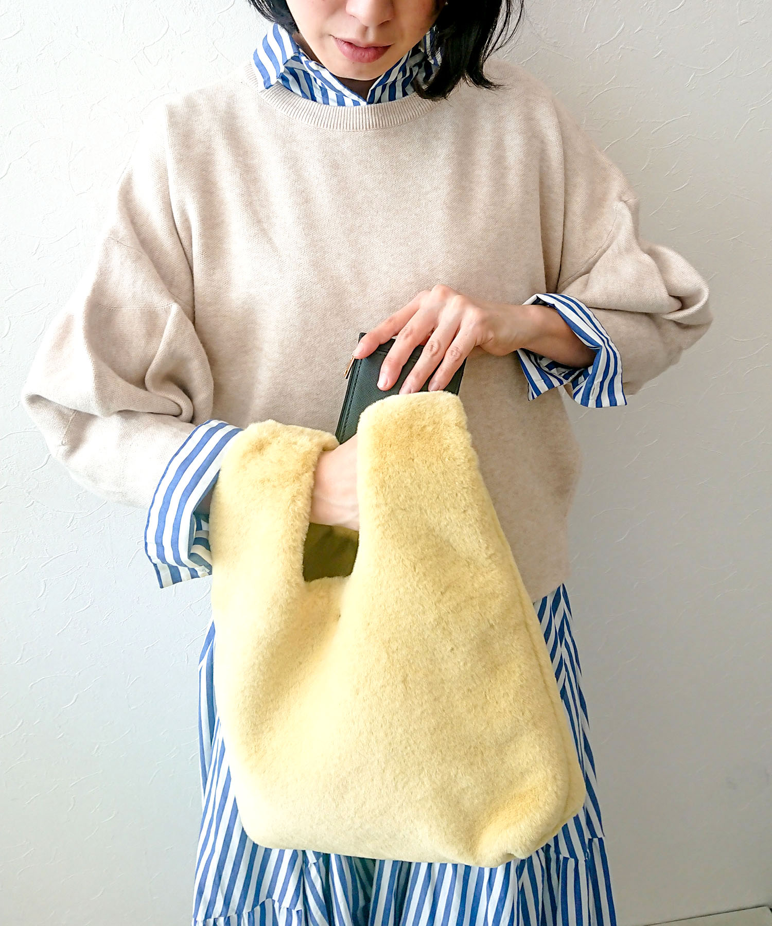<with・STORY>12月号掲載 フェイクファースライドBAG