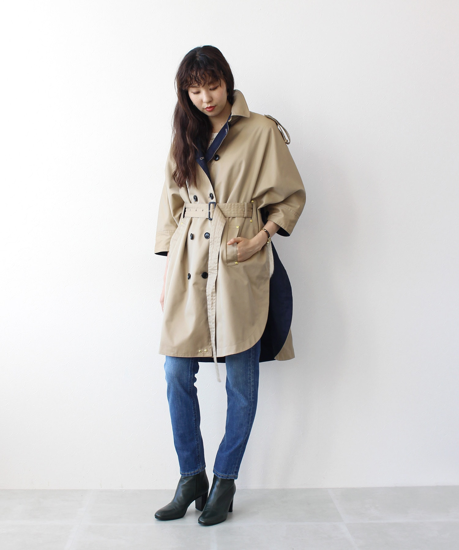 <Hart>trench poncho coat