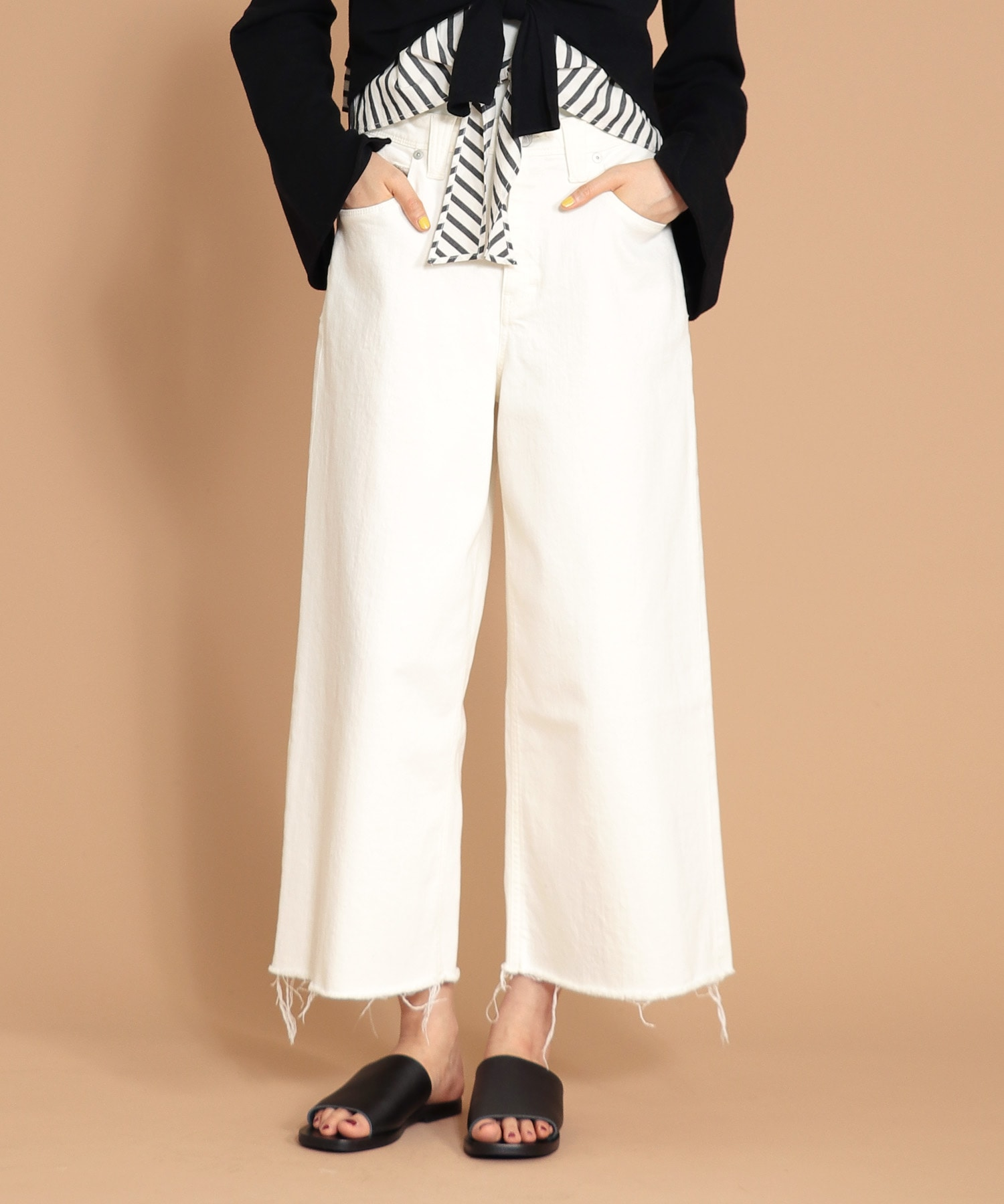 <YANUK>LYDIA white wide pants