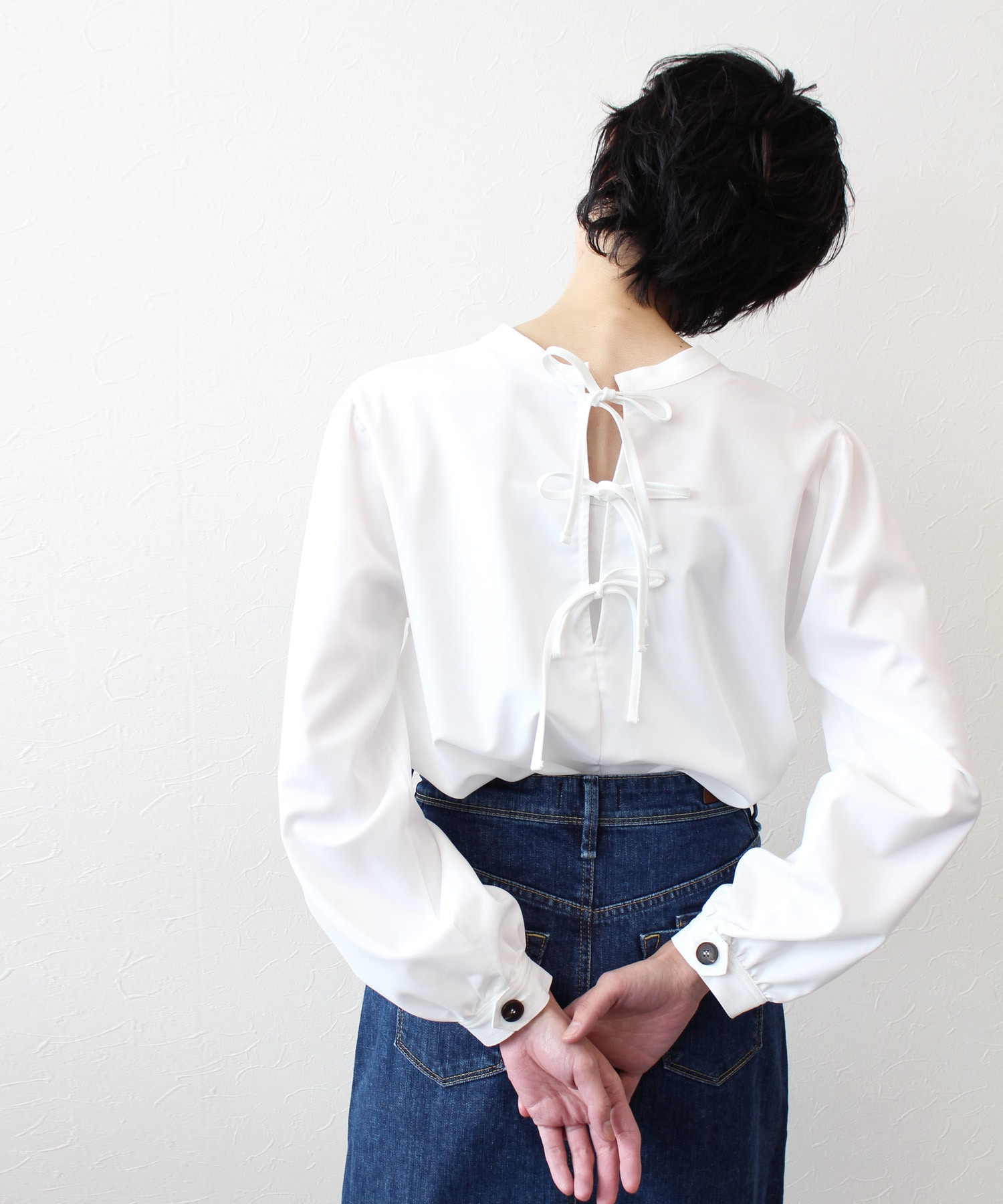 <Sugar Rose>ribbon design blouse