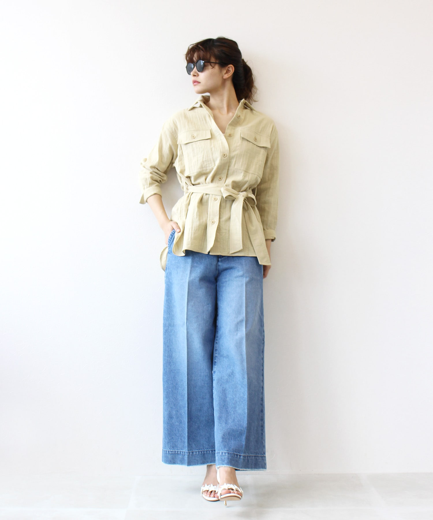<B7>westmark cotton gauze shirt