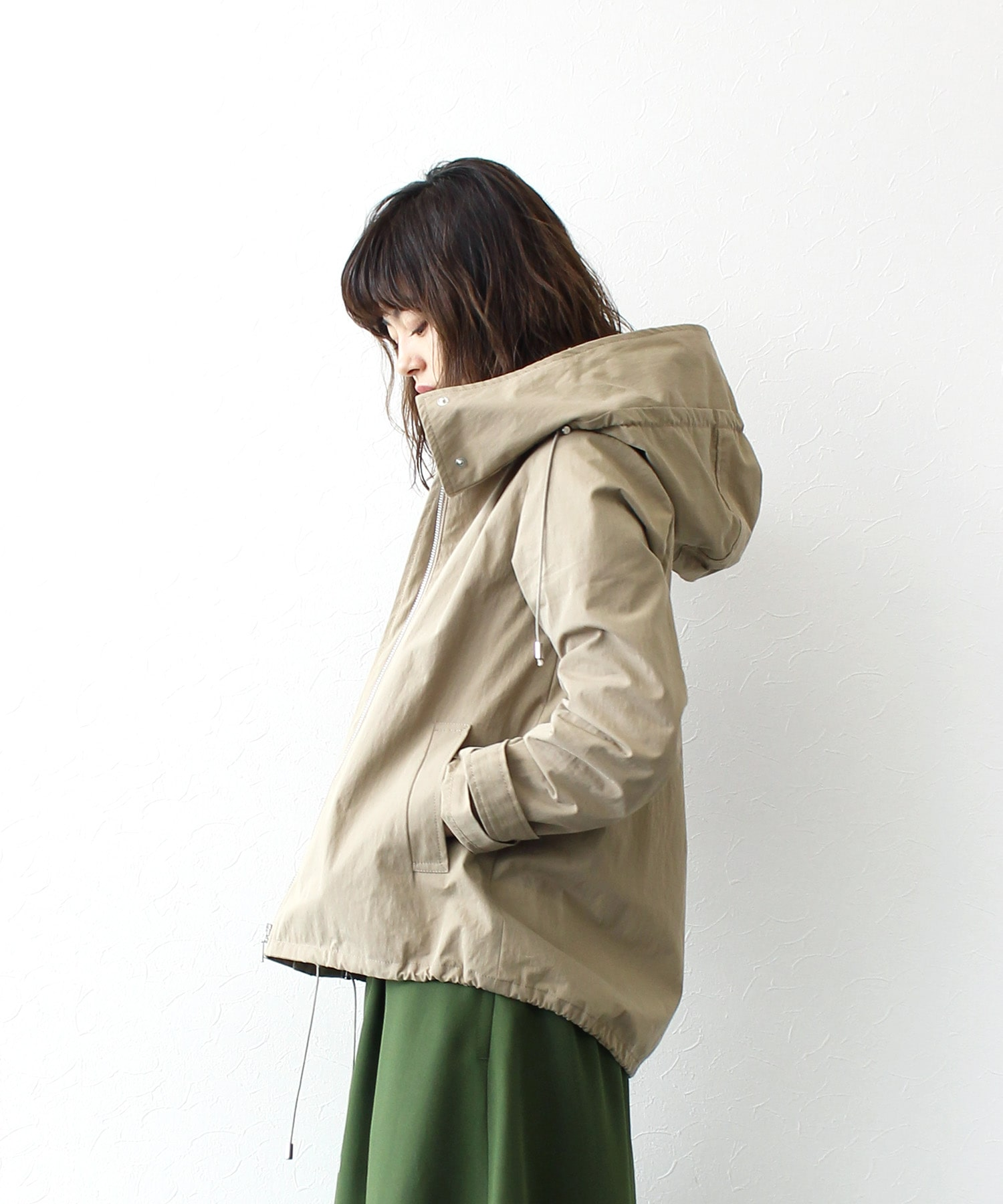 <B7>fish tail typewriter blouson