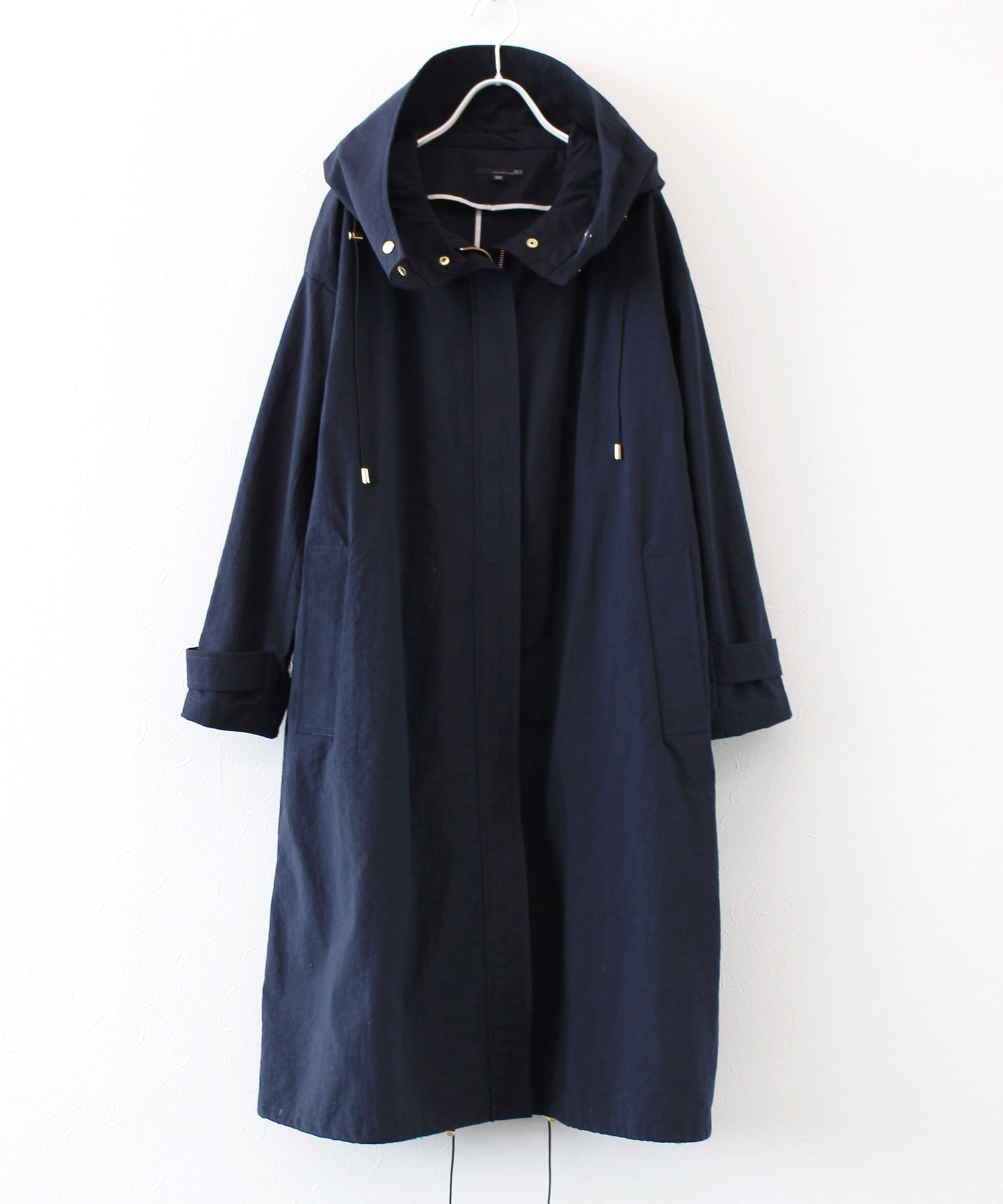 <B7>fish tail long blouson