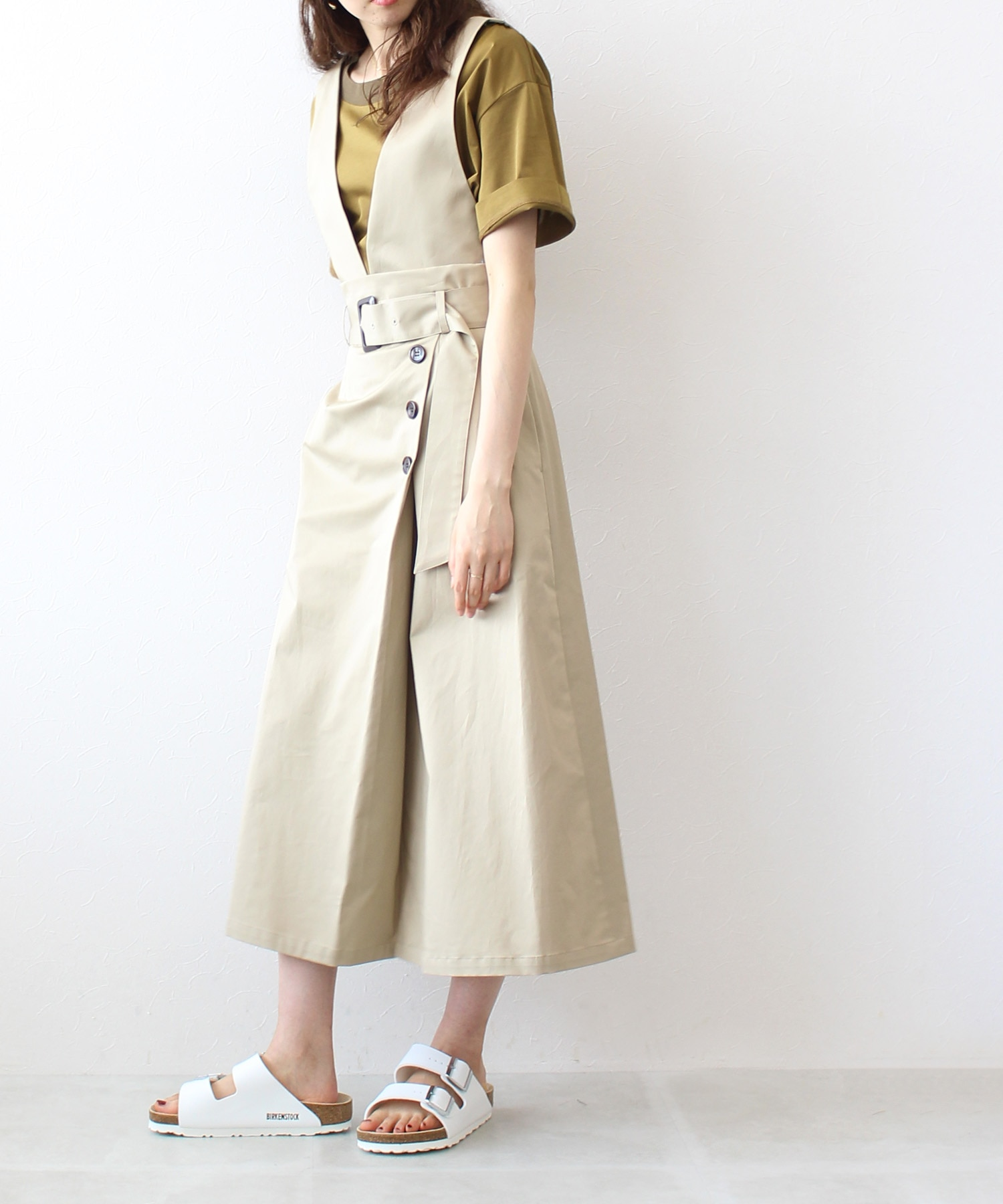 <B7>trench jumper skirt