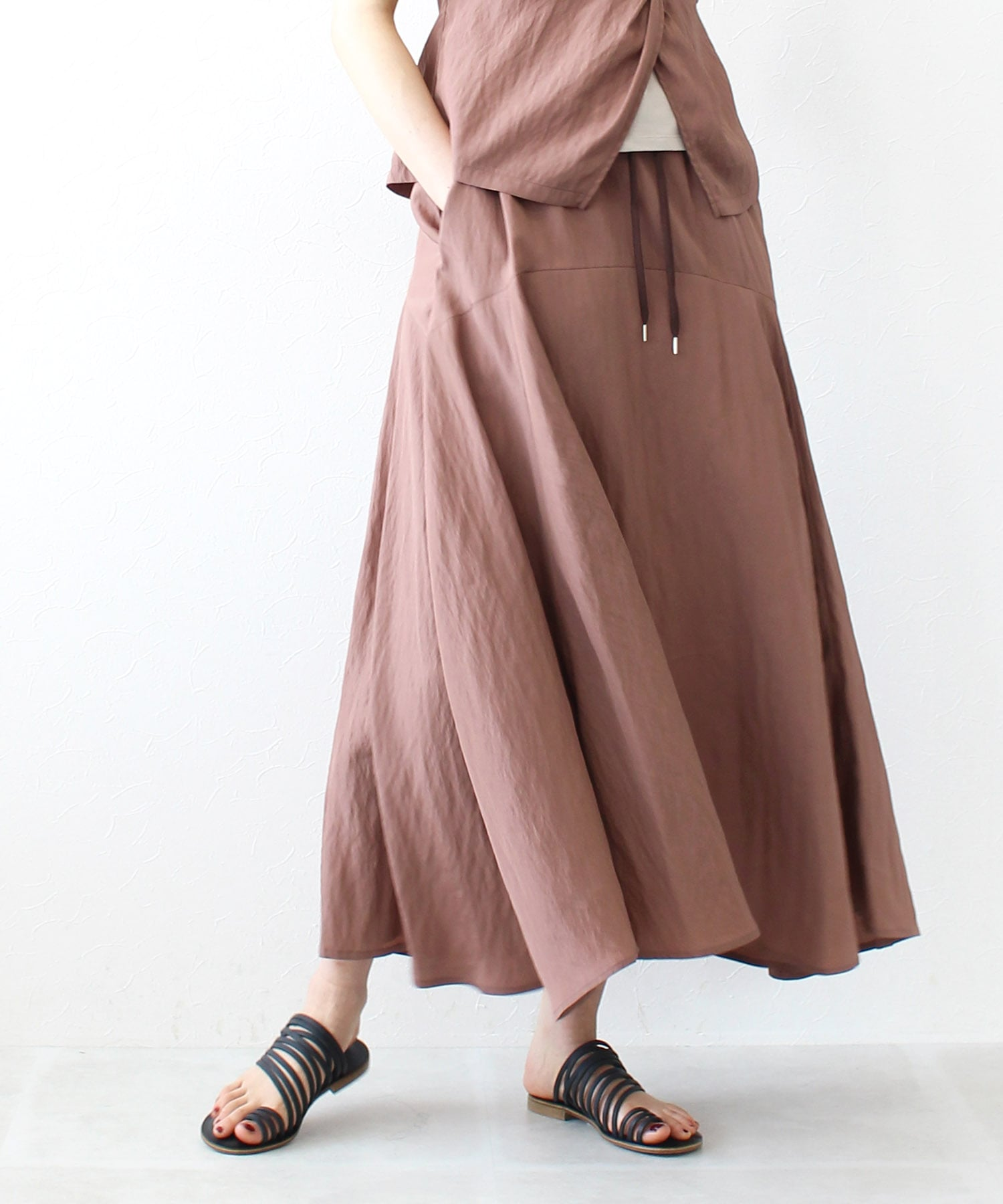 <B7>vintage washer flare skirt