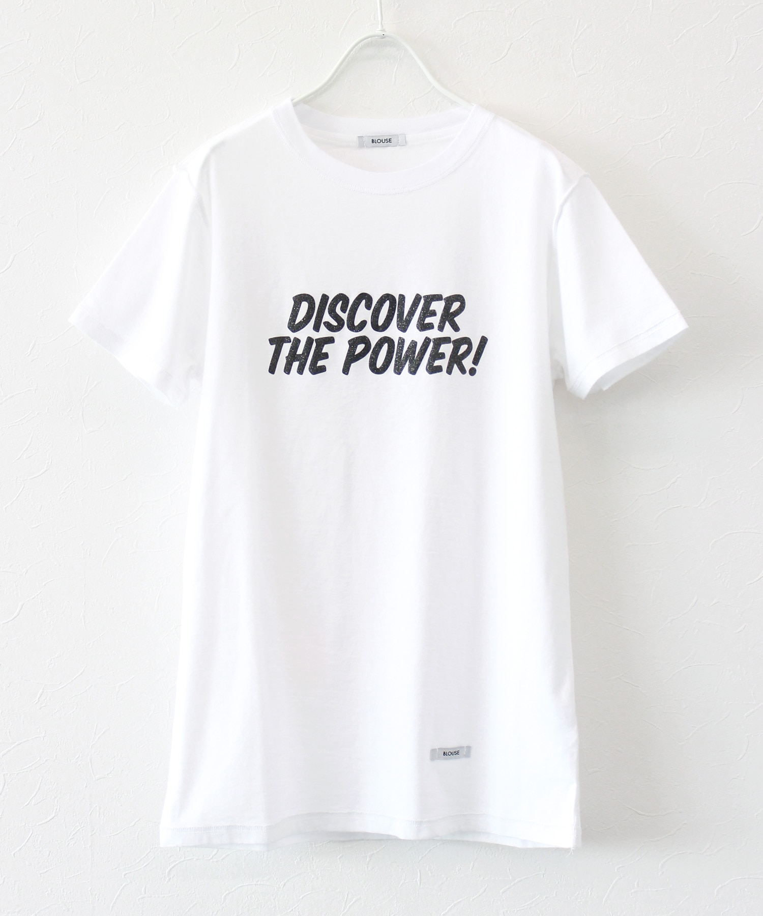 <BLOUSE>discover the power tee