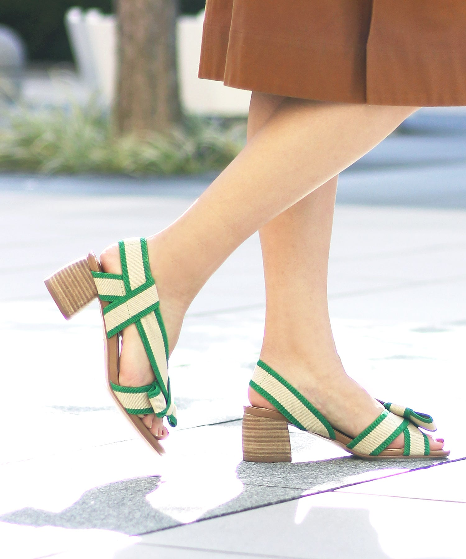 <BIBI LOU>Bioclor ribbon sandals