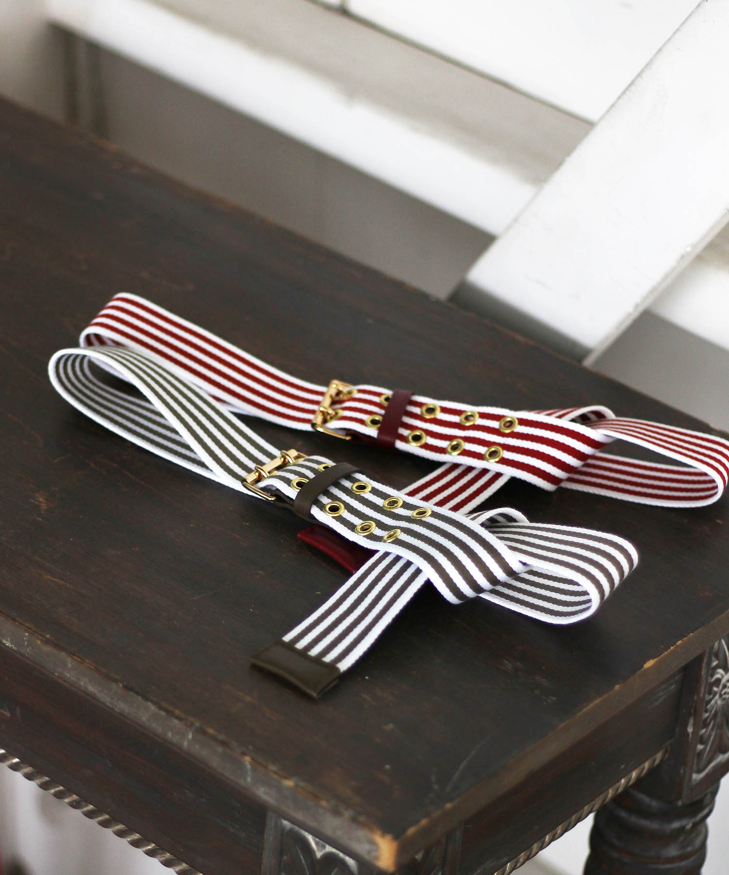 <MAISON BOINET>Stripe belt