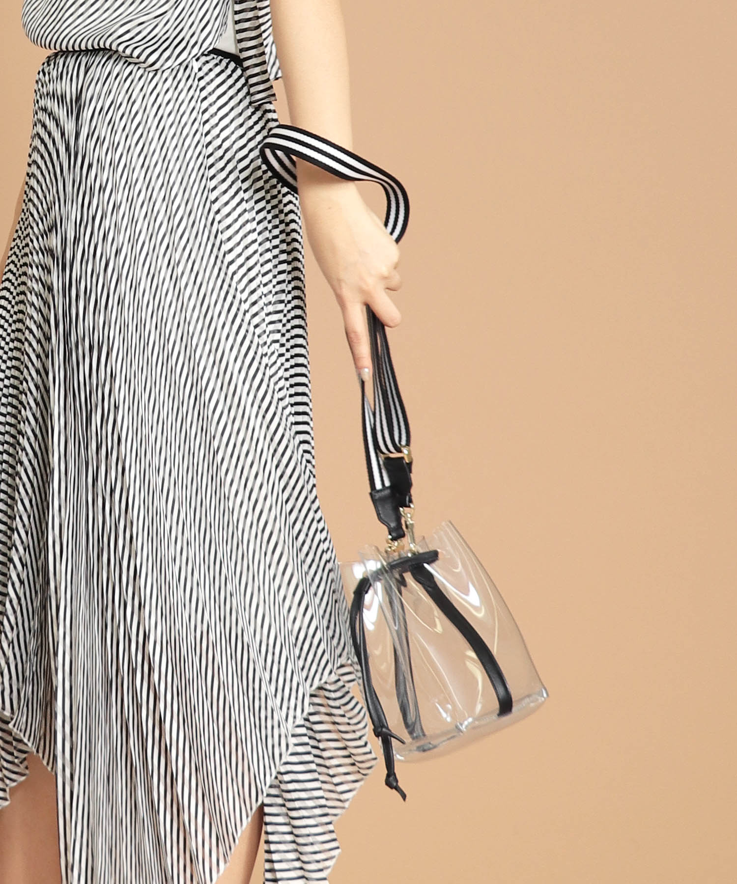 <MAISON BOINET>clear×drawstring bag
