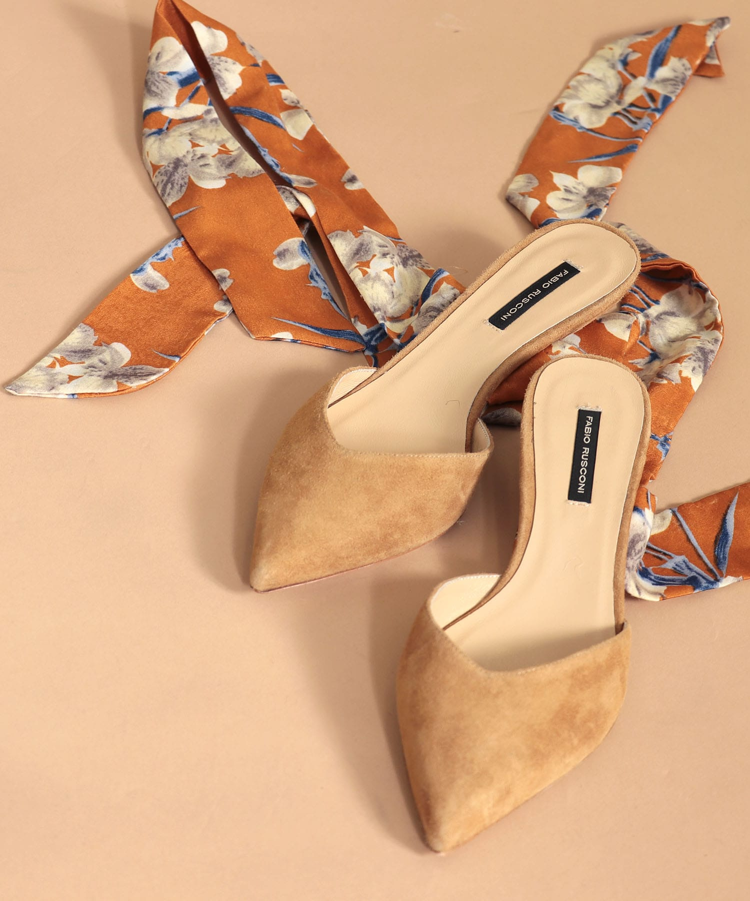 <FABIO RUSCONI>GABRY Foulard ribbon sandals