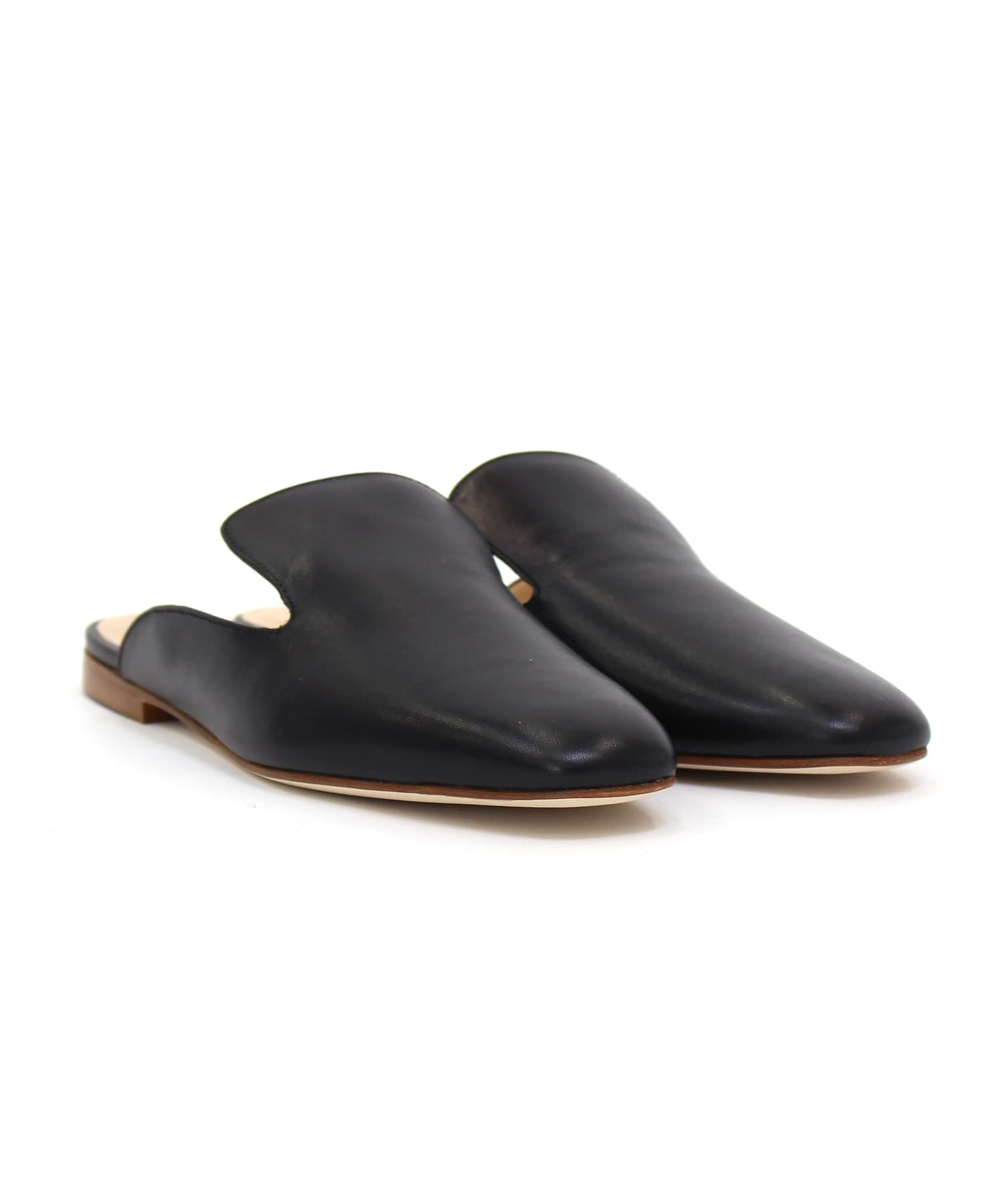 <FABIO RUSCONI>leather plane slipper
