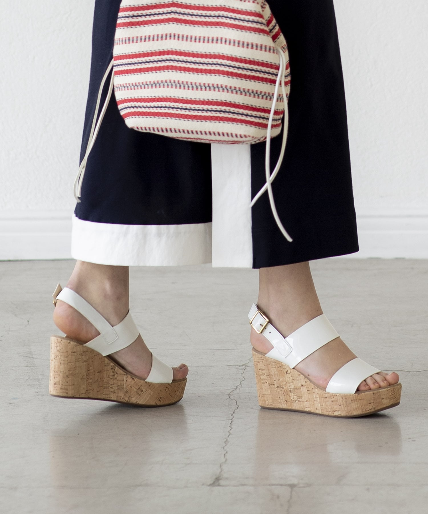 <FABIO RUSCONI>COSMO NINA cork wedge sandals