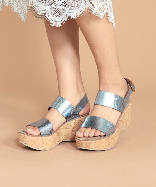 <FABIO RUSCONI>COSMO DORA cork wedge sandals