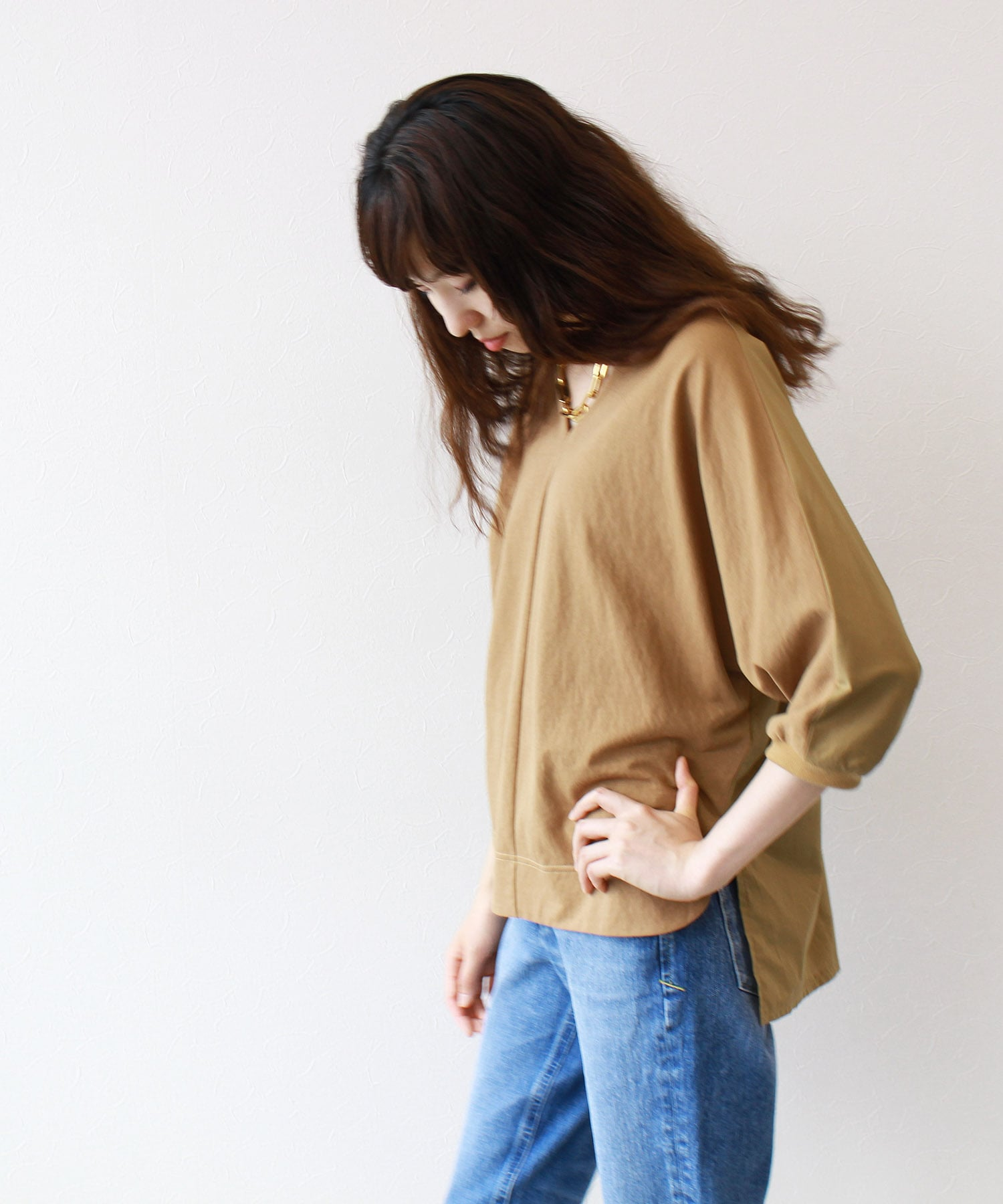 <Sugar Rose>V neck blouse