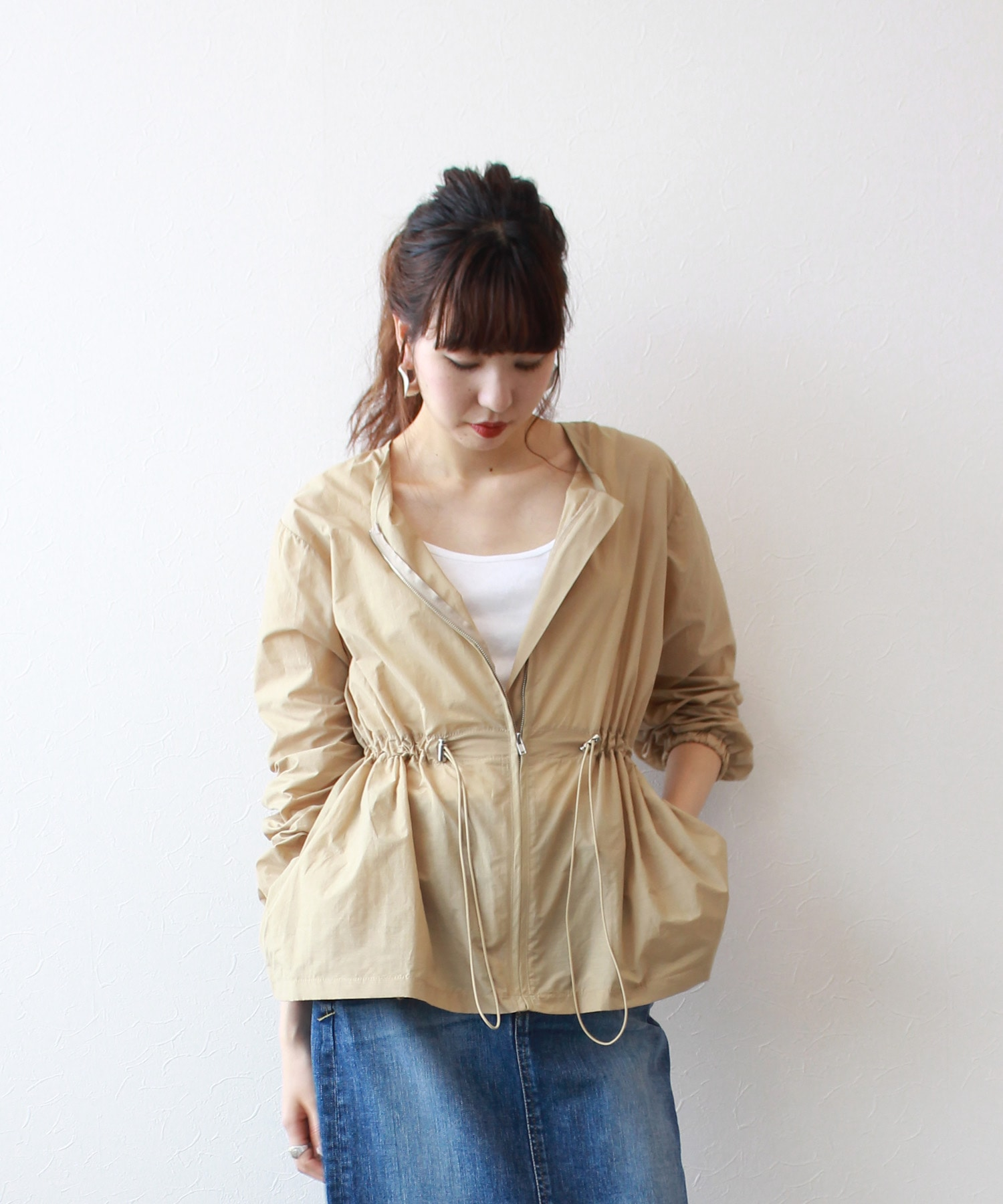 <Sugar Rose>zip up blouson