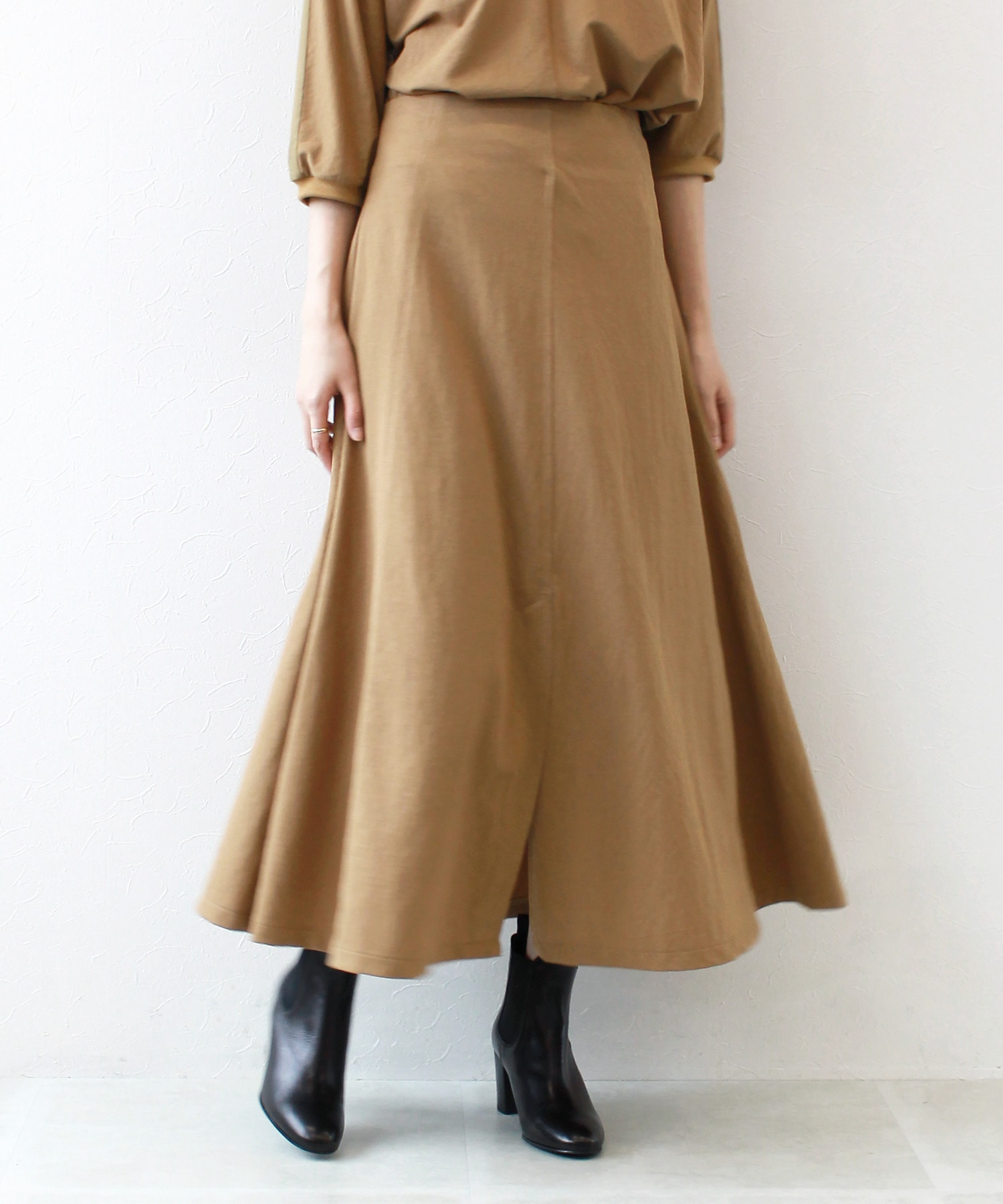 <Sugar Rose>center vents flare skirt