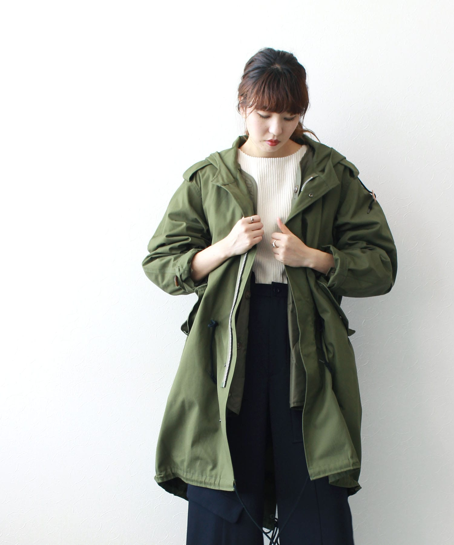 <RAWTUS>OVERSIZED M-51 TYPE COAT