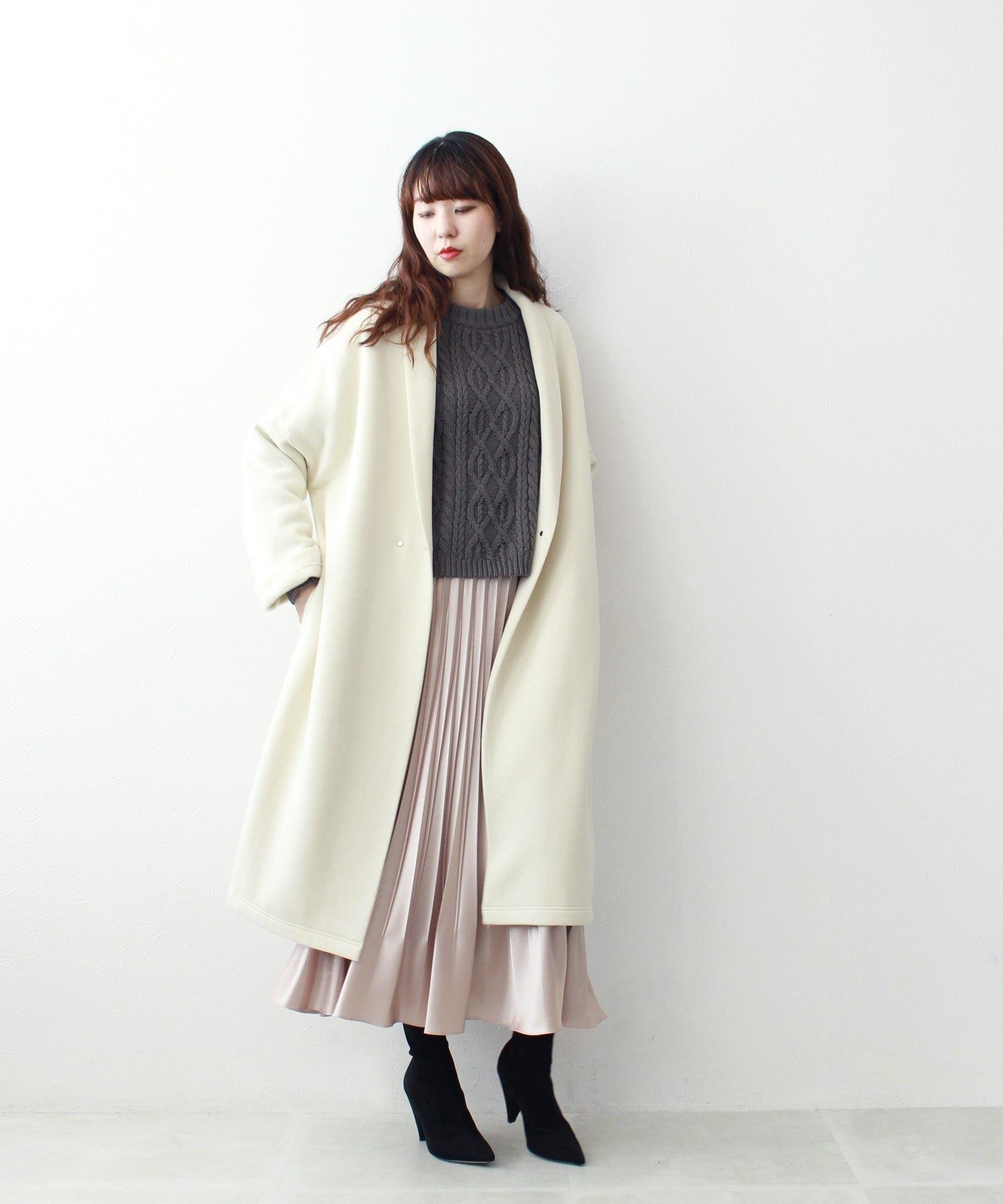 <B7>washable wool long gown