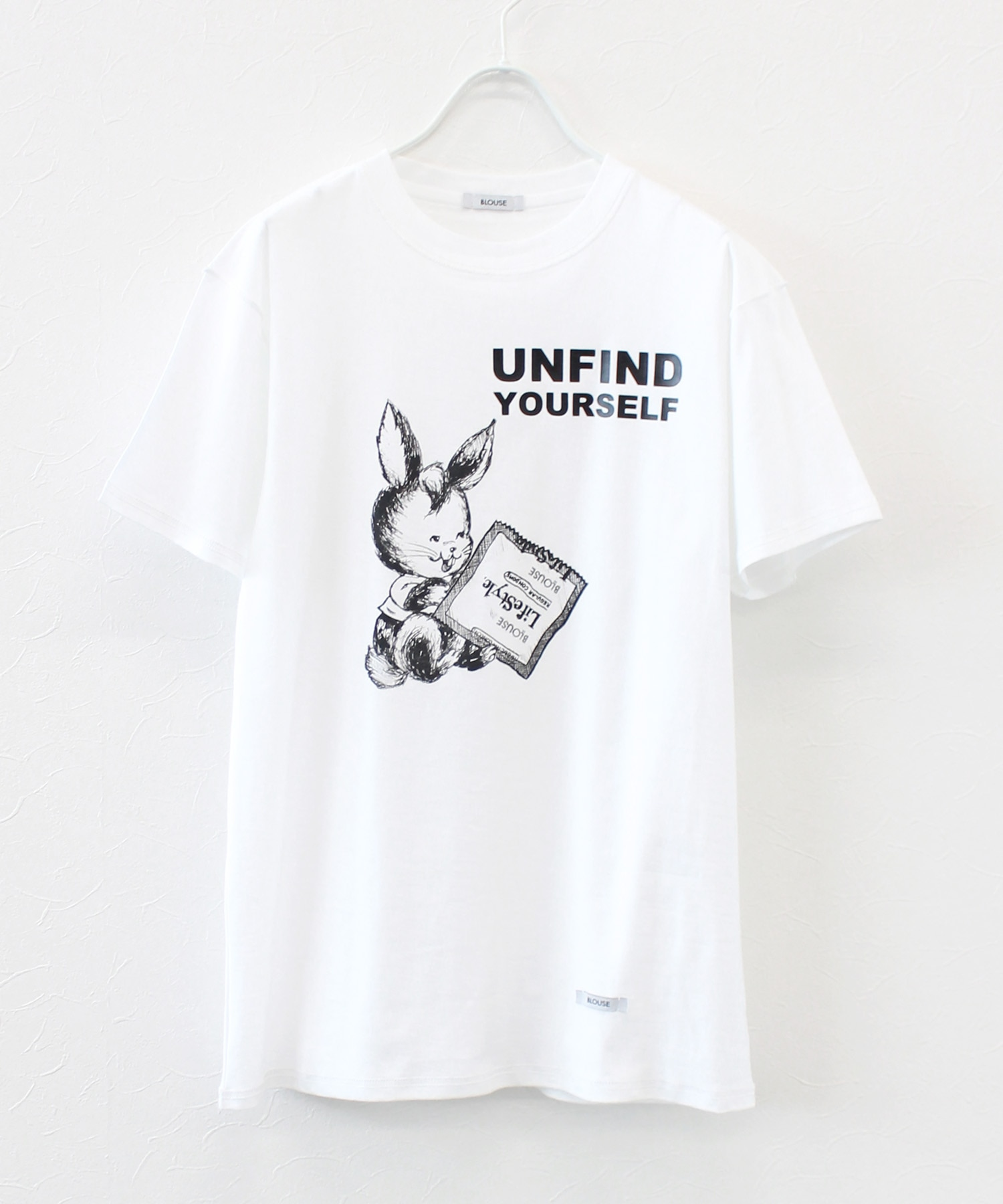 <BLOUSE>unfind yourself tee