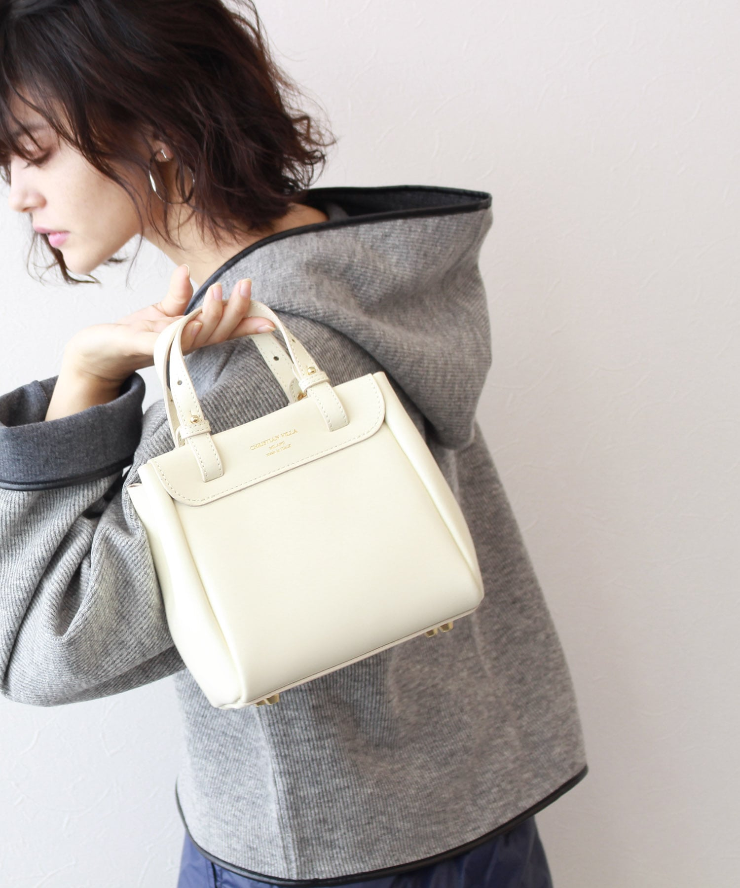 <CHRISTIAN VILLA>trapezoid mini bag