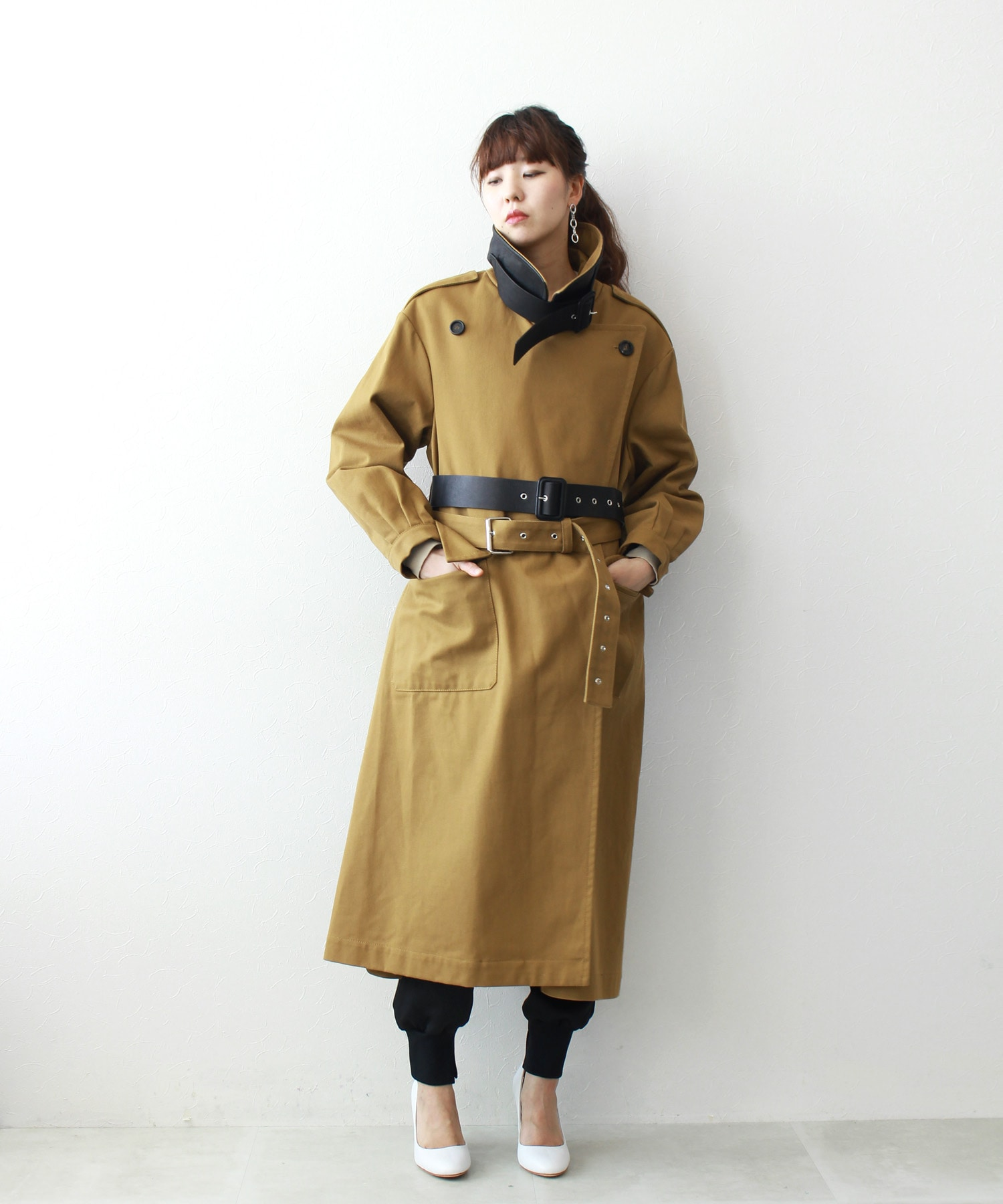 <TWINS FLORENCE>design trench coat