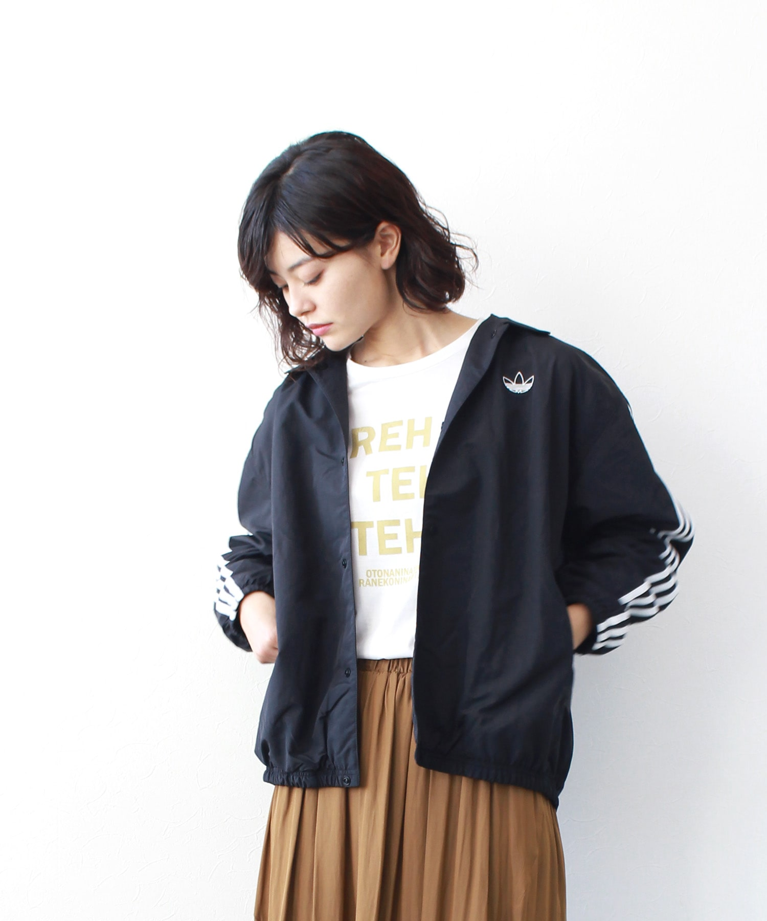 <adidas originals>TREFOIL COACH JACKET
