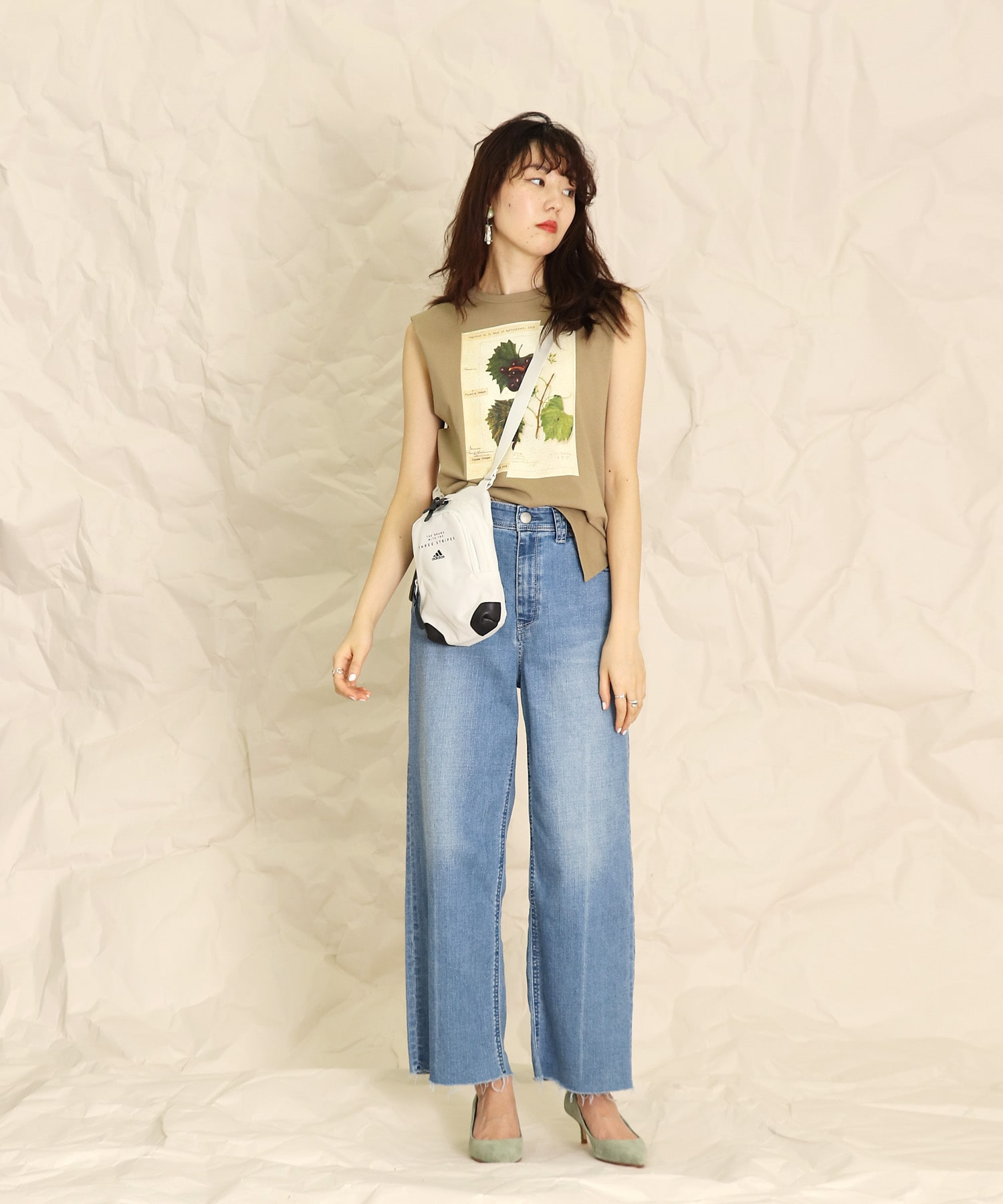 <YANUK>LILITH wide straight pants