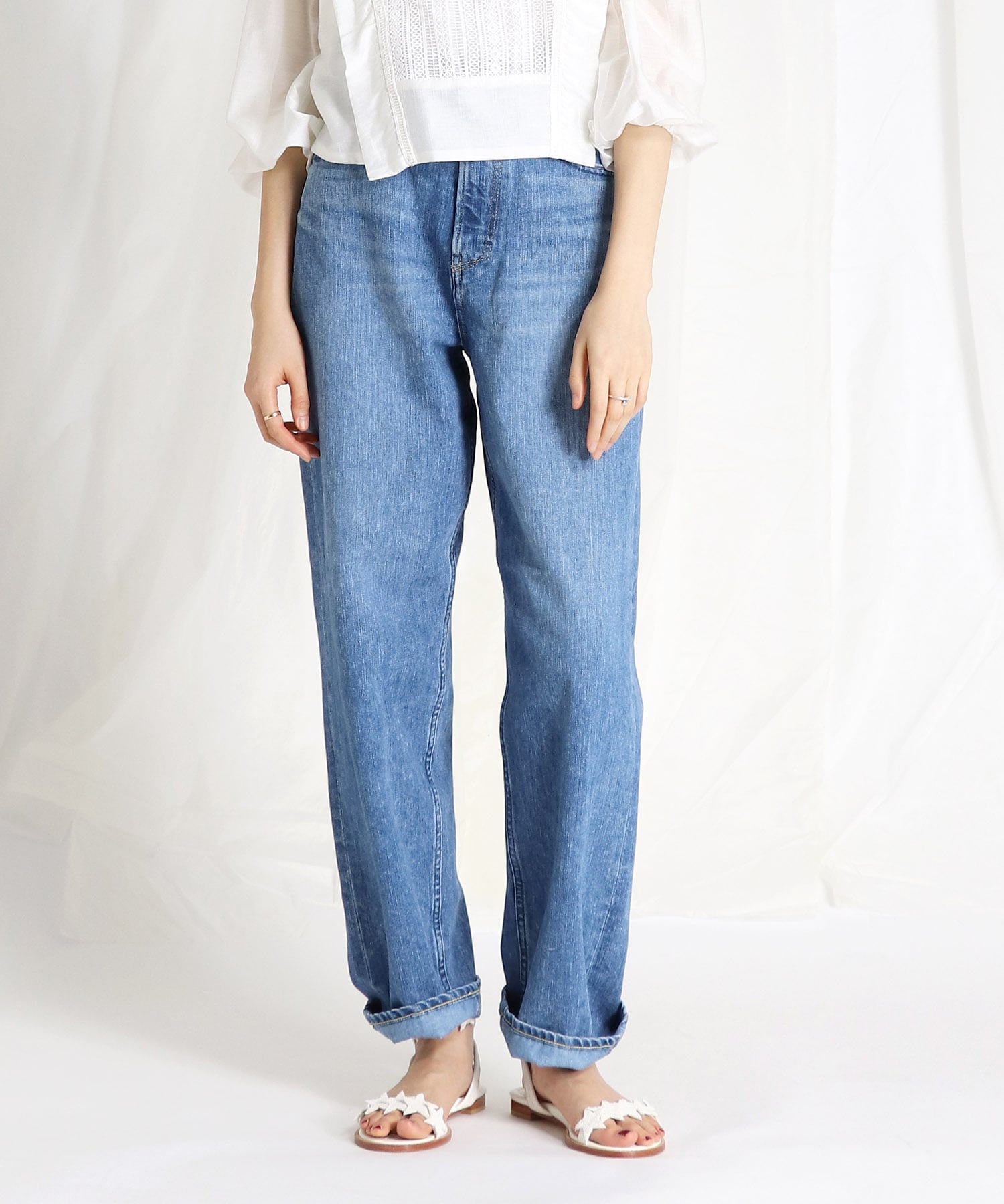 <YANUK>COLLEEN Wide tapared pants
