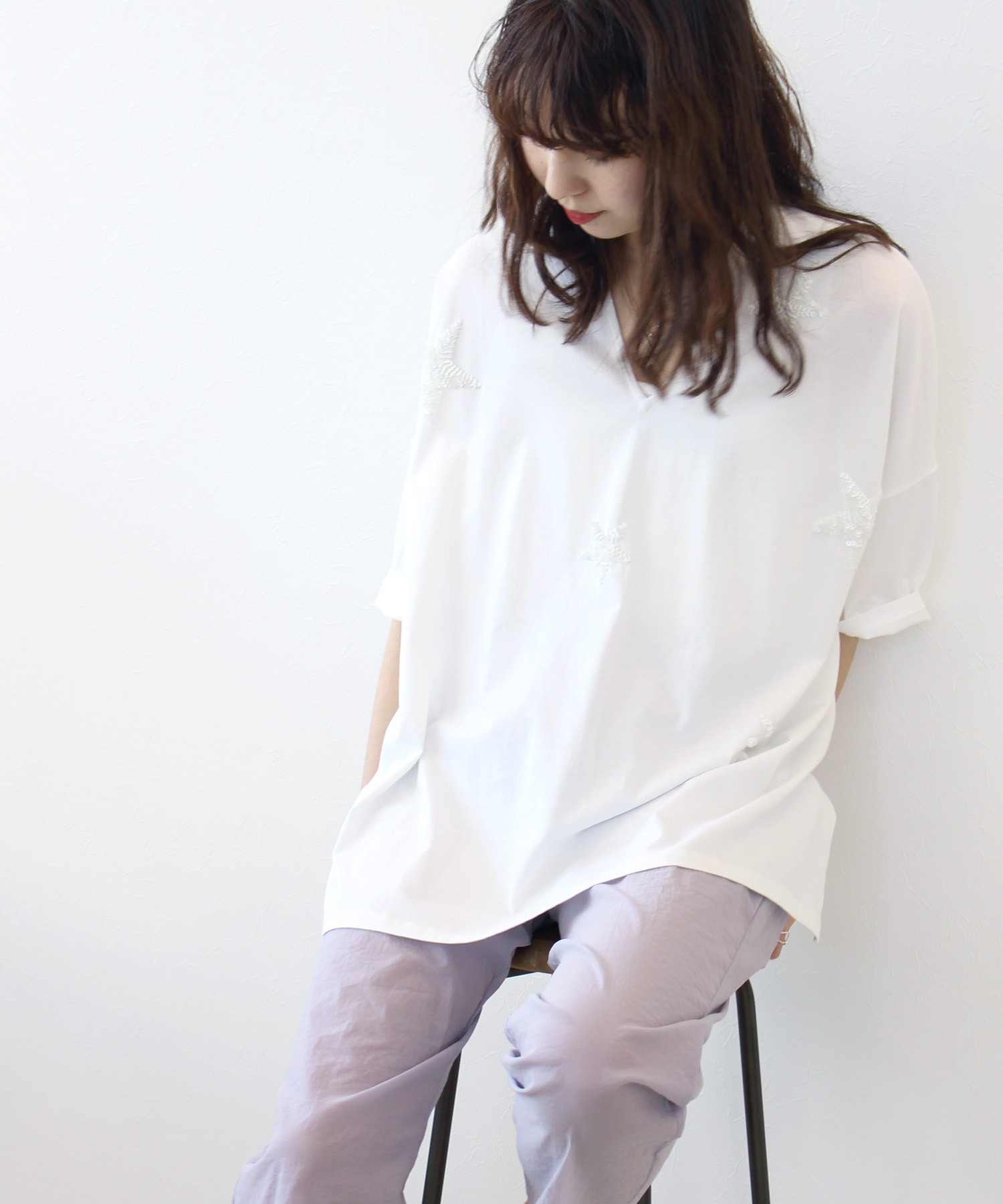 <Sugar Rose>spangle★relax tee