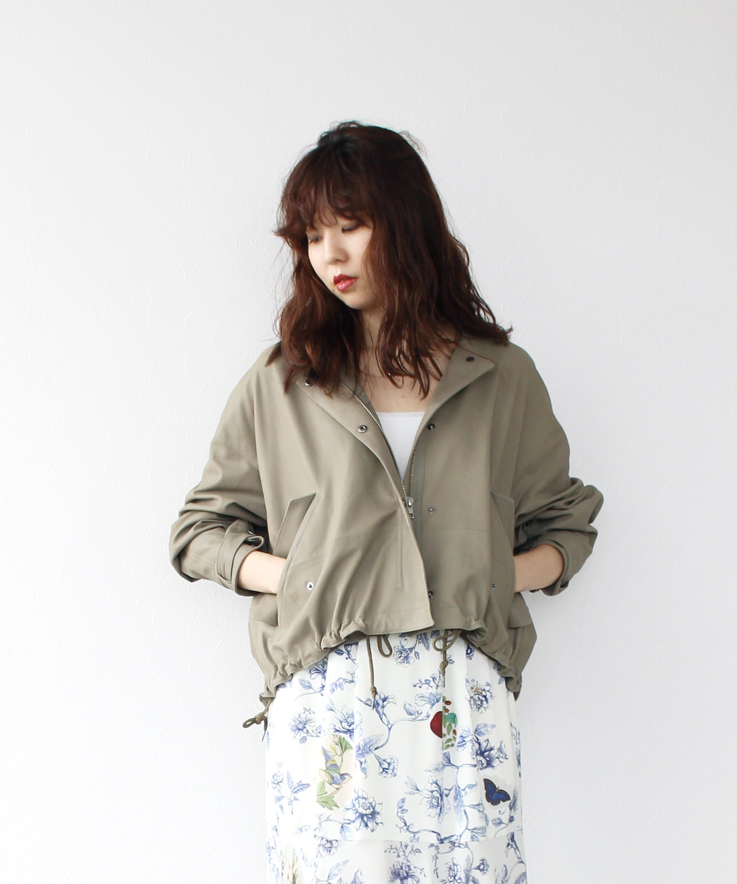 <RAWTUS>oversized short military jacket