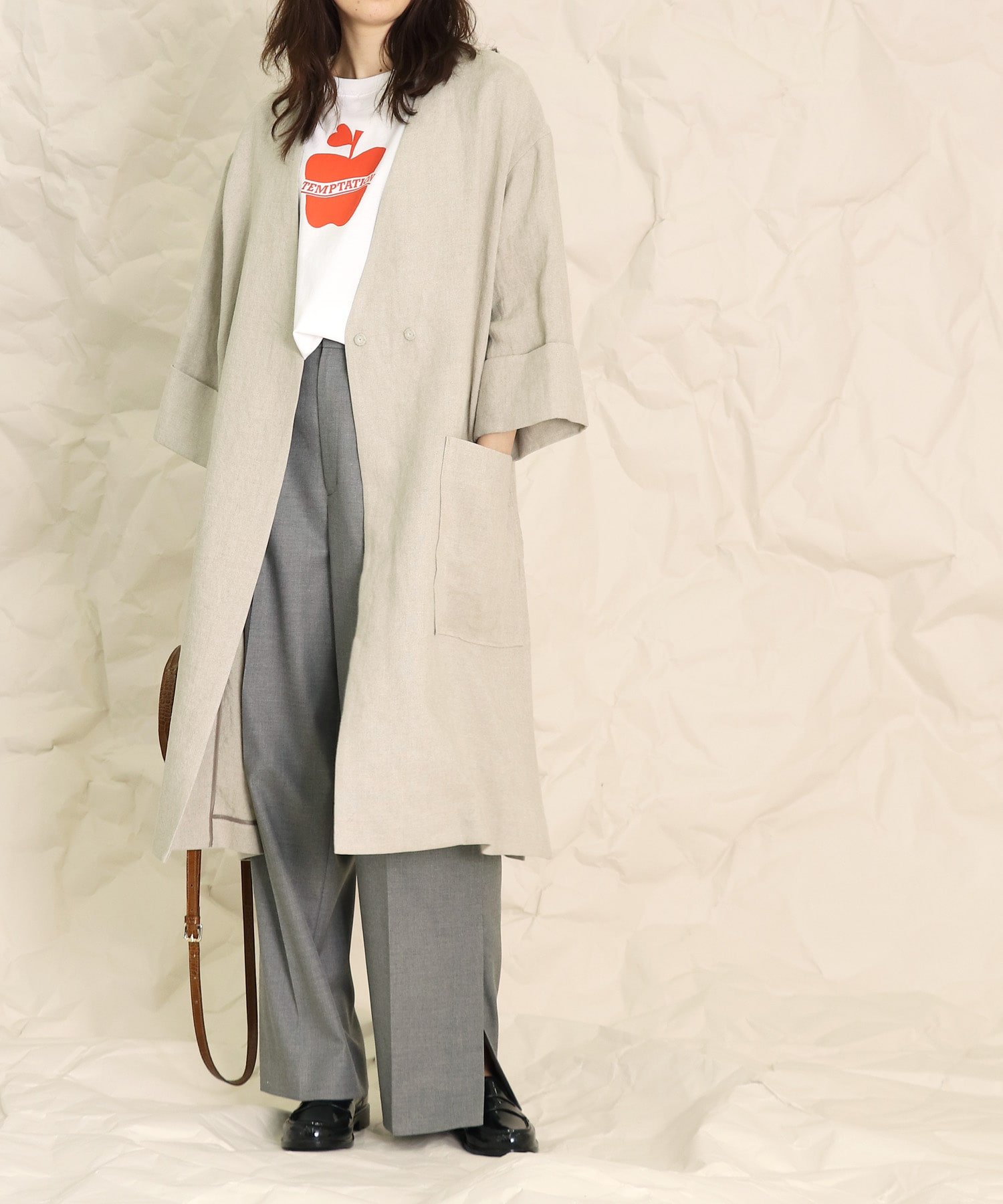 <B7>french linen light jacket