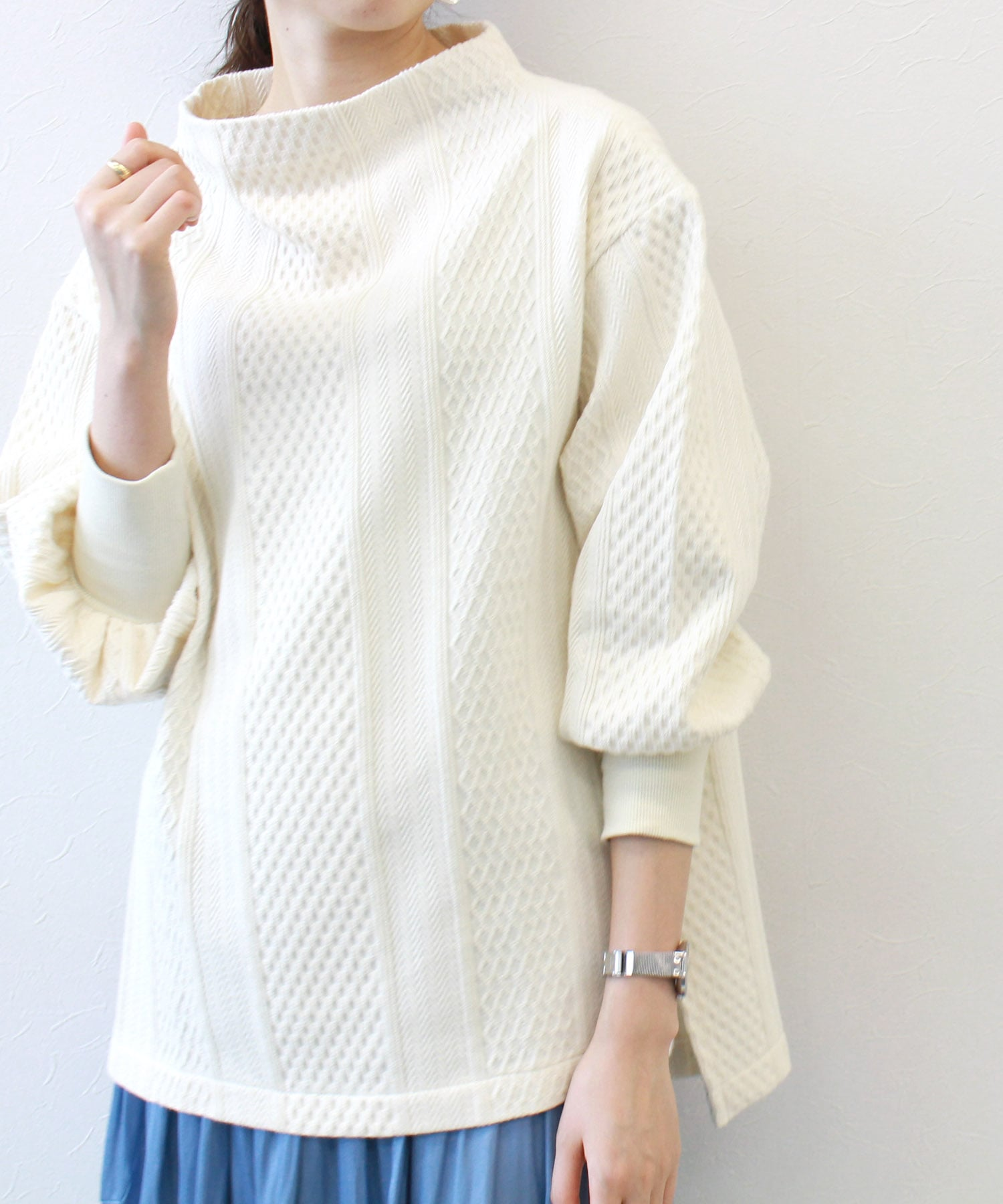 <B7>cable jacquard pull