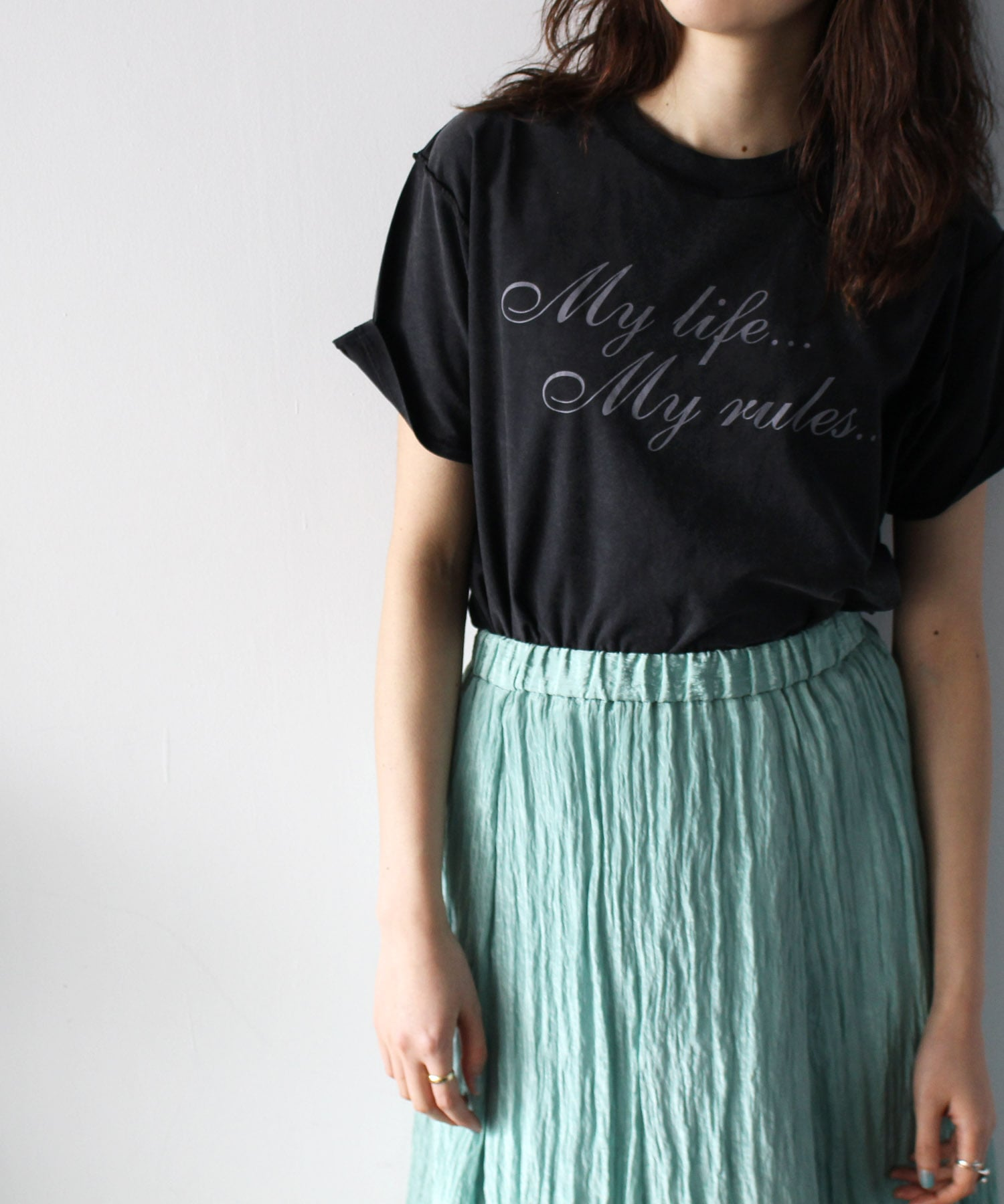 <BLOUSE>my life my rules tee