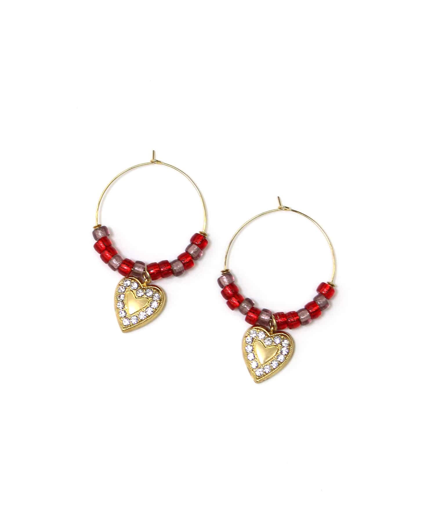 <ADER>HEART hoop pierce