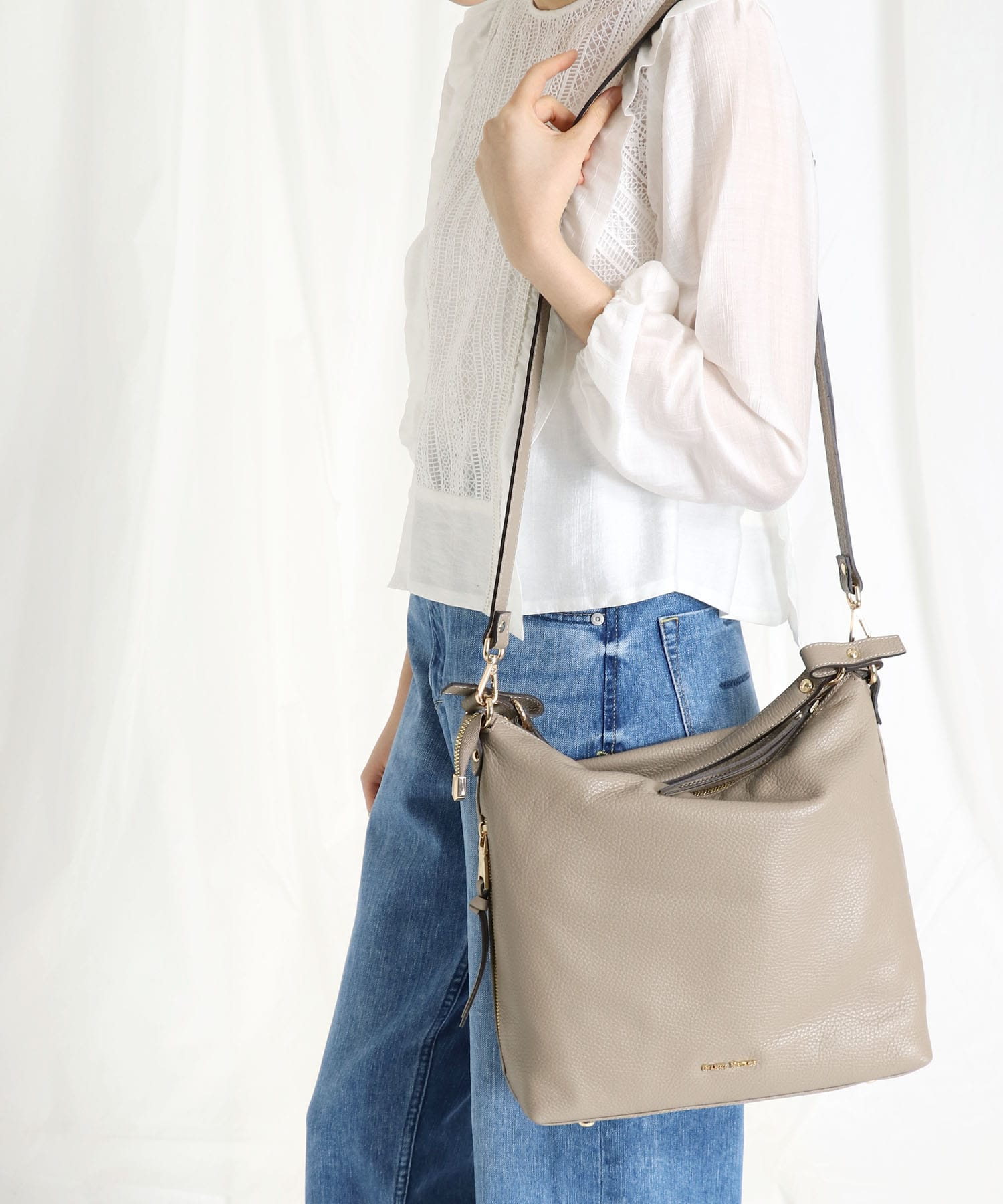 <GIANNI NOTARO Carol J.>2way leather bag