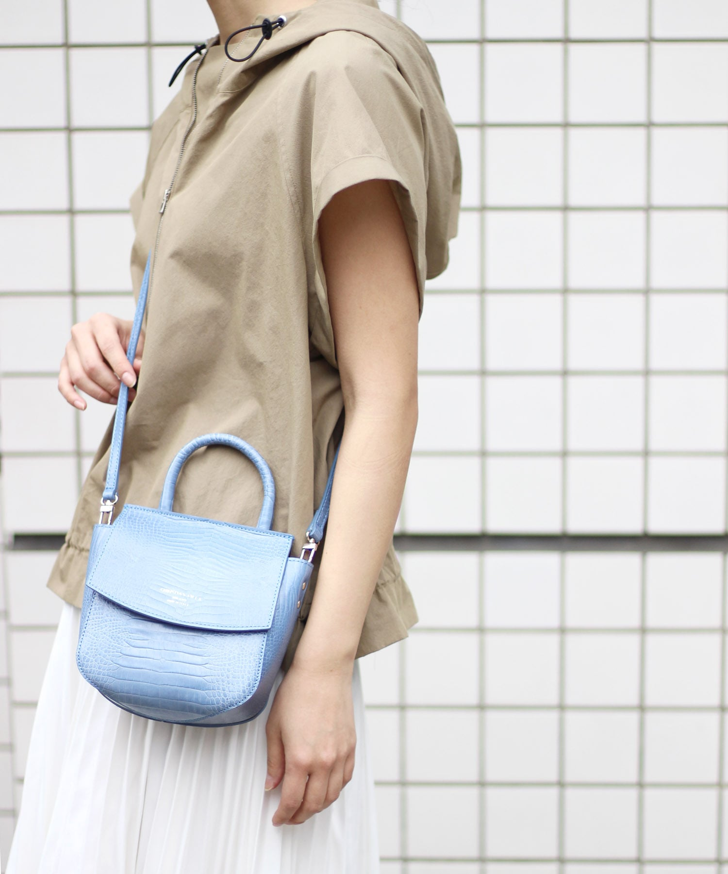 <CHRISTIAN VILLA>flap shoulder bag