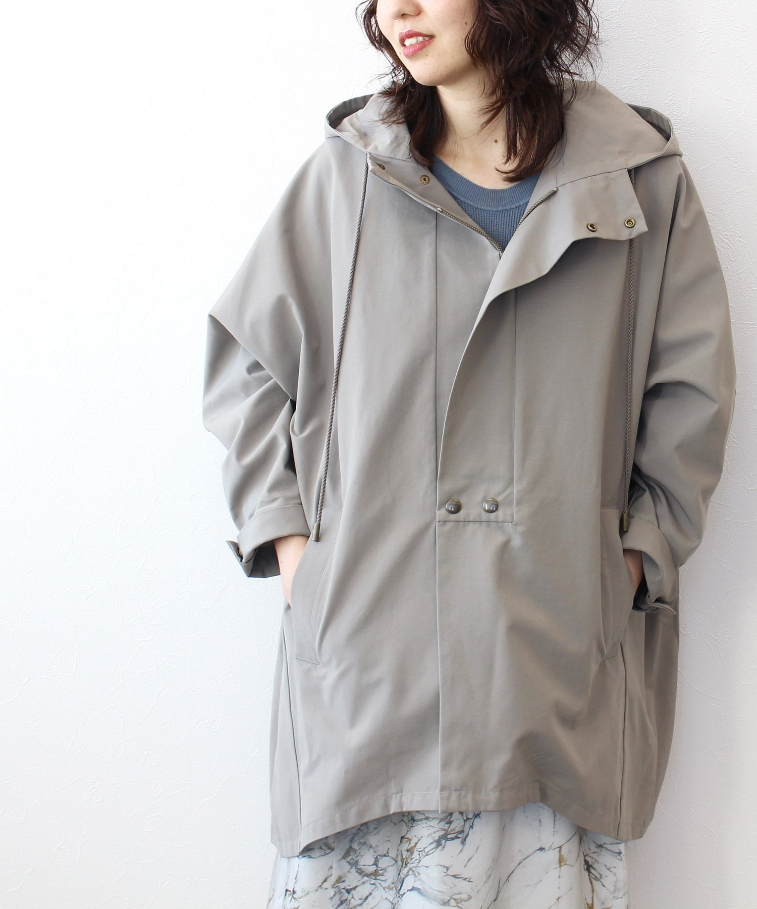 <Hart>oversized hooded coat