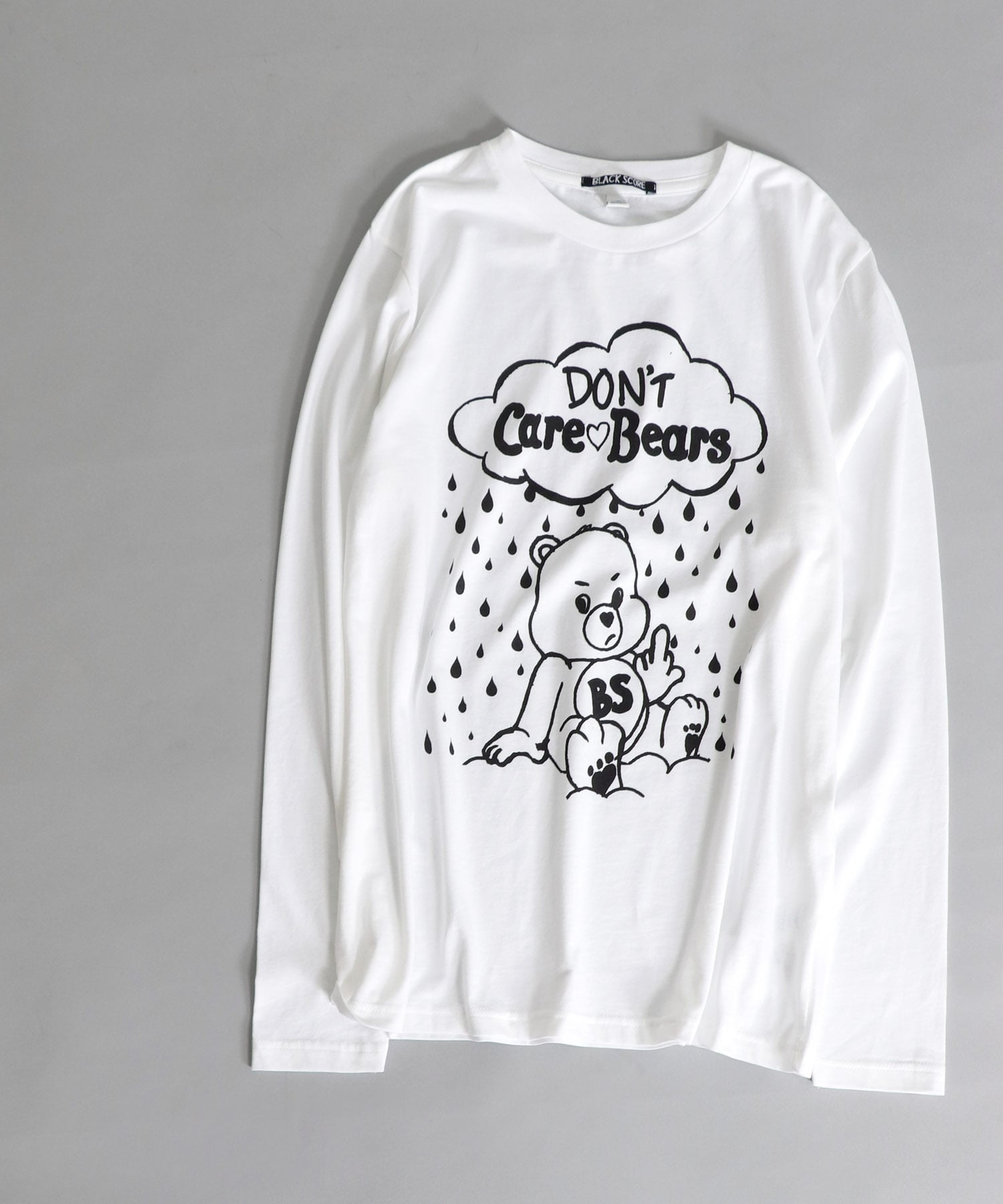 <BLACK SCORE>care bares long sleeve tee