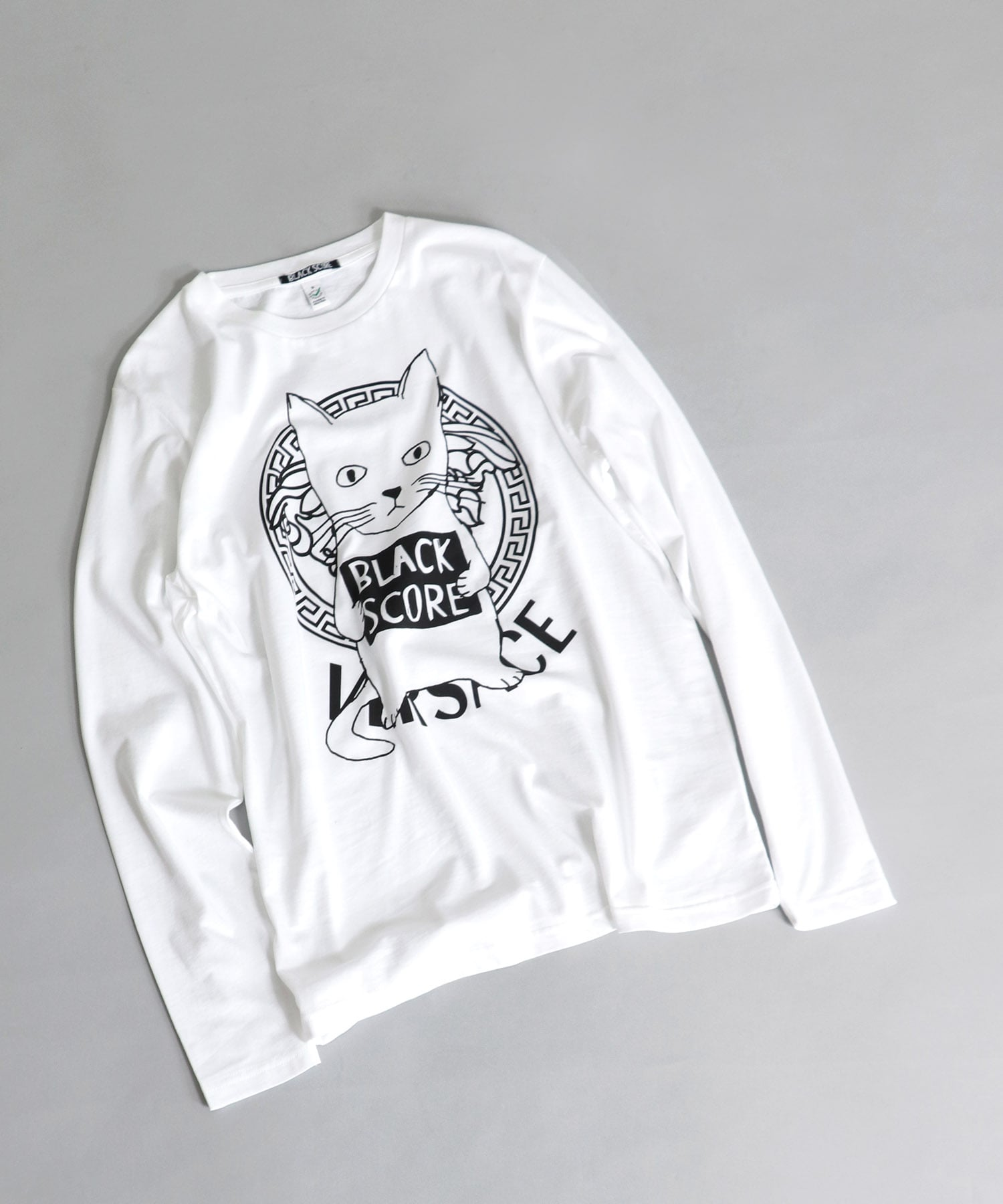 <BLACK SCORE>cat versace long sleeve tee