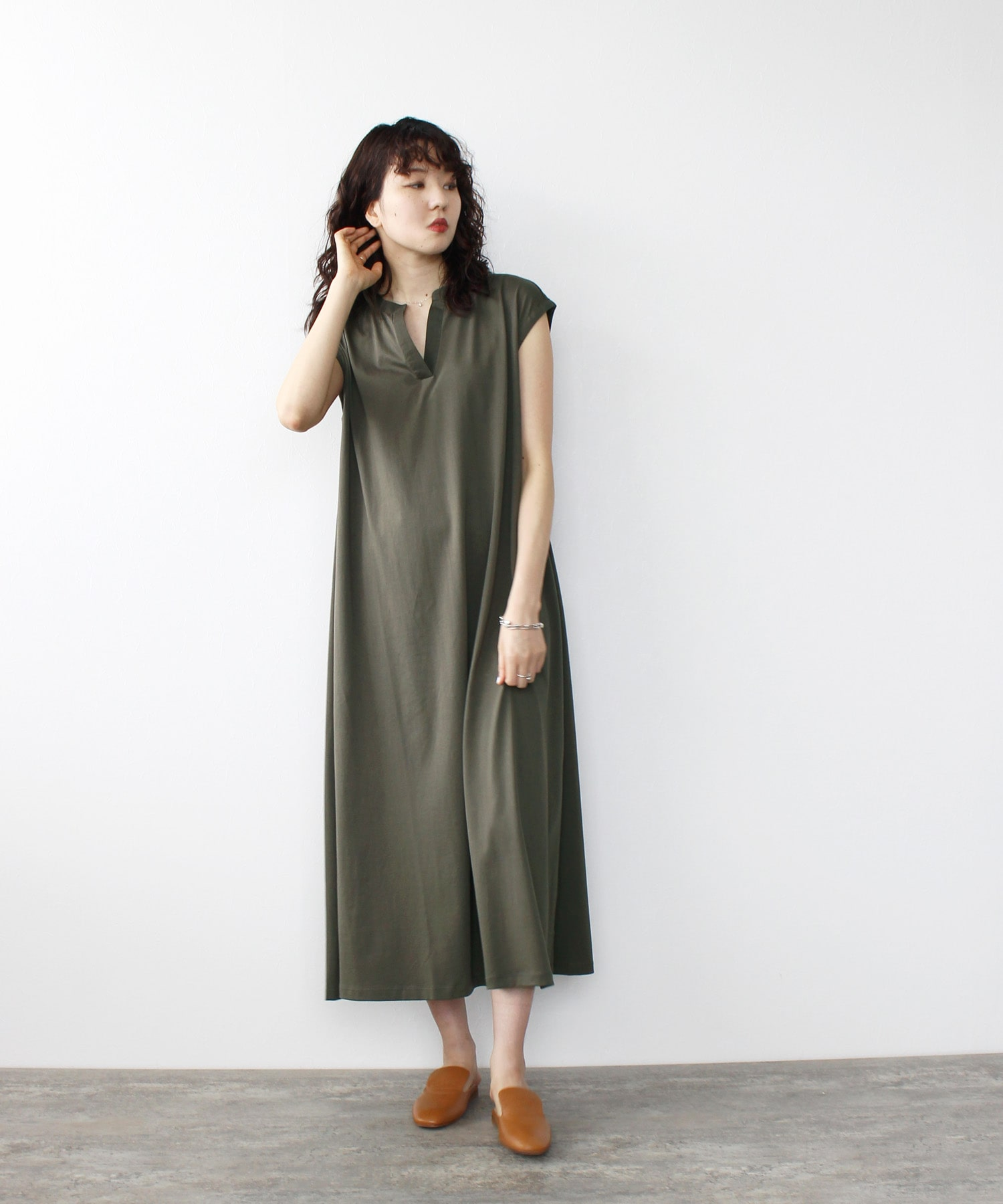 <Sugar Rose>skipper cotton dress