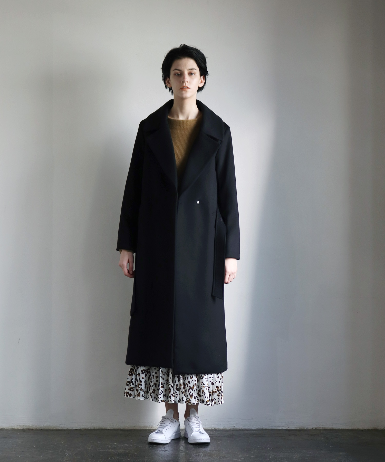<B7>italy wool cashmere coat