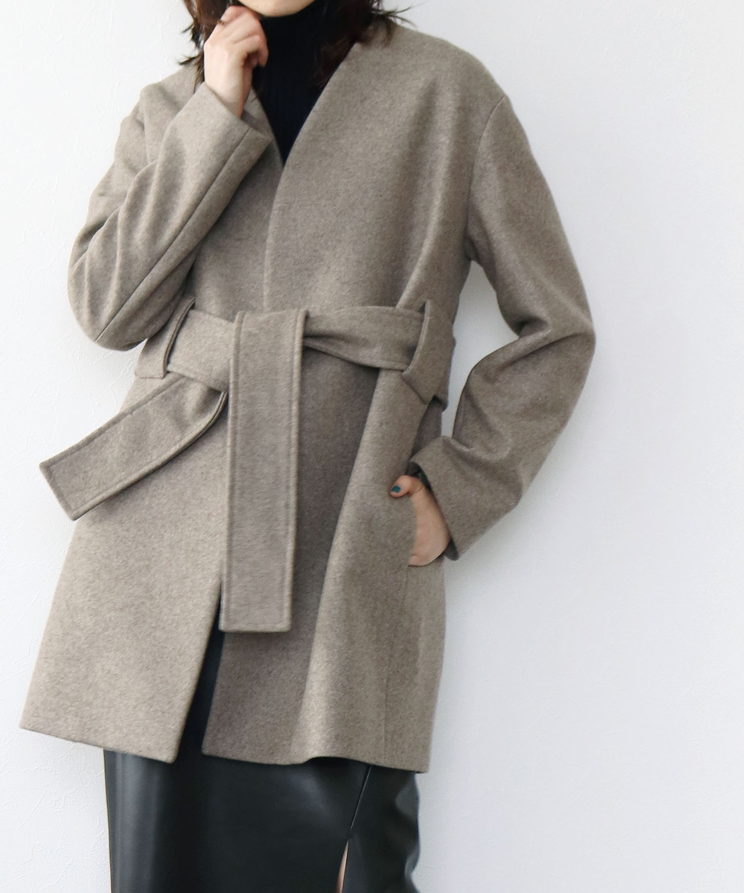 <TWINS FLORENCE>wool short coat