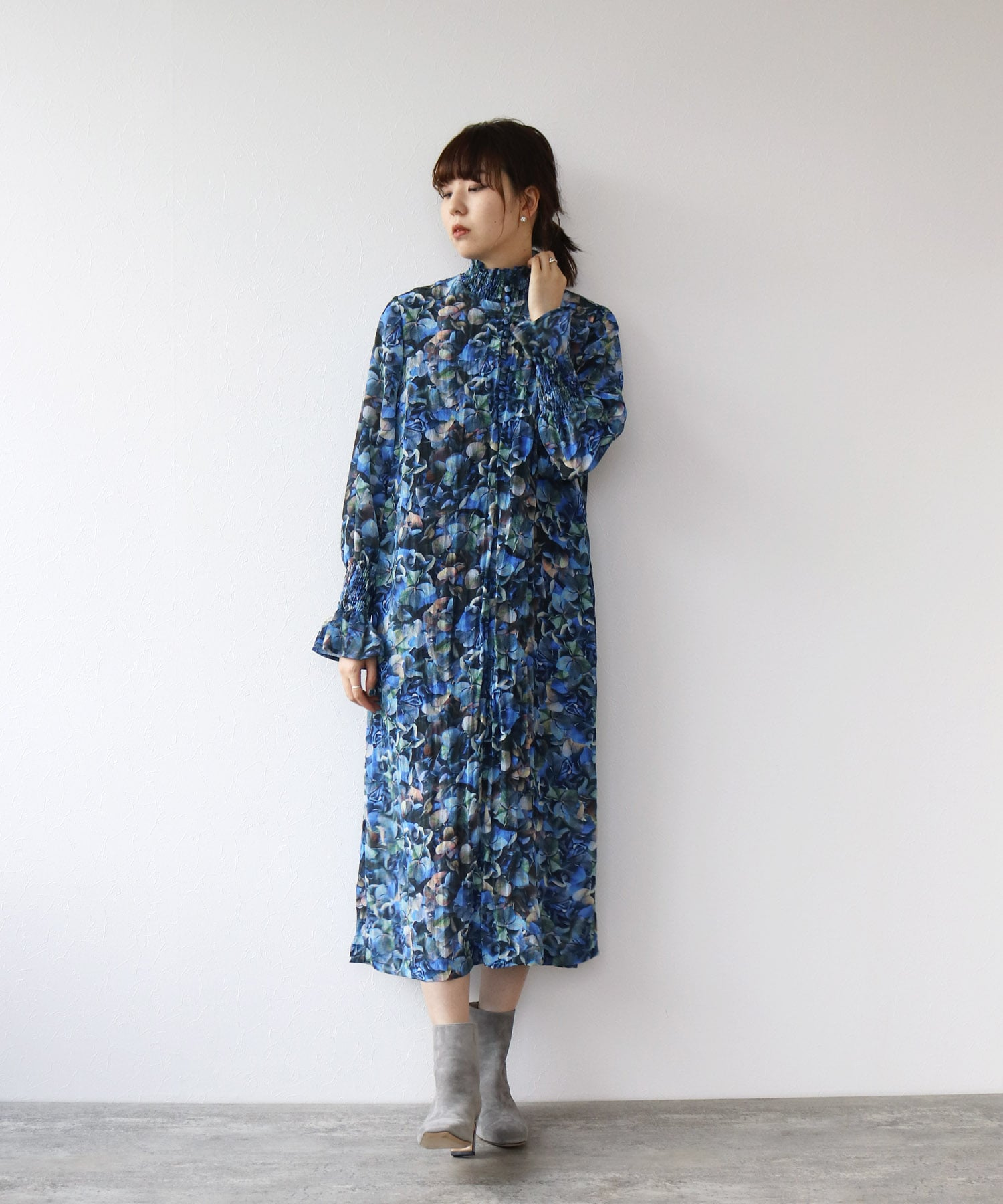 <BAUM UND PFERDGARTEN>AEVERIE hydrangeas print dress