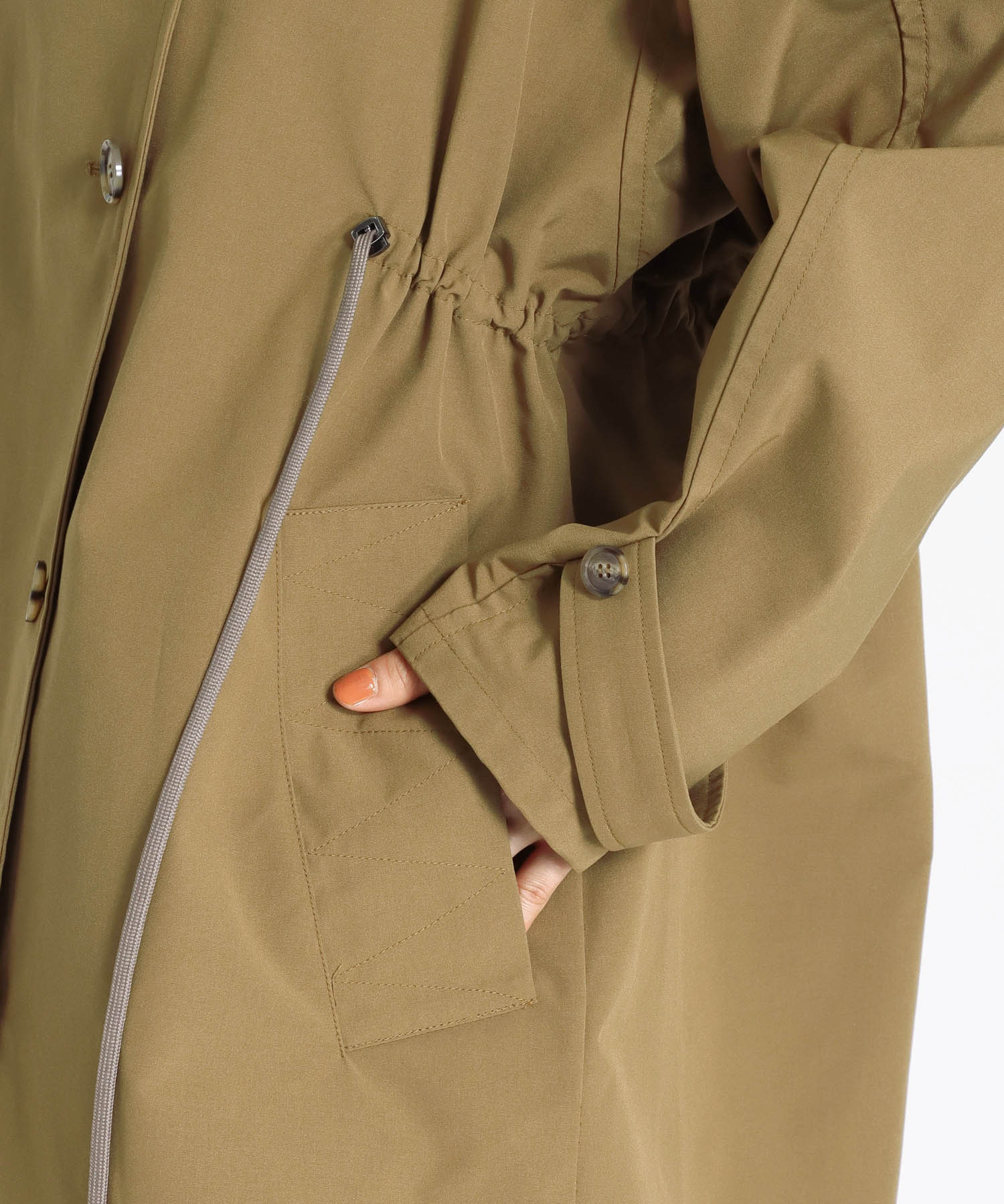 <Hart>military short tench blouson